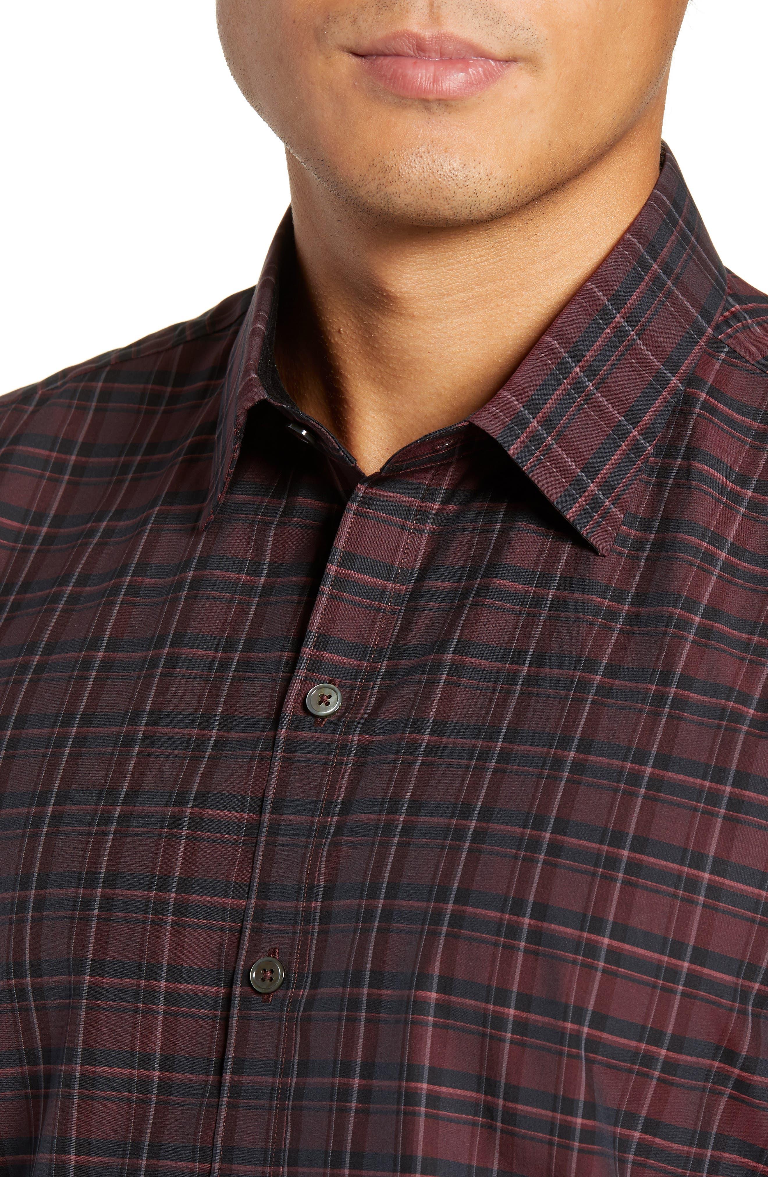 Sunny Regular Fit Sport Shirt,                             Alternate thumbnail 2, color,                             RUBY