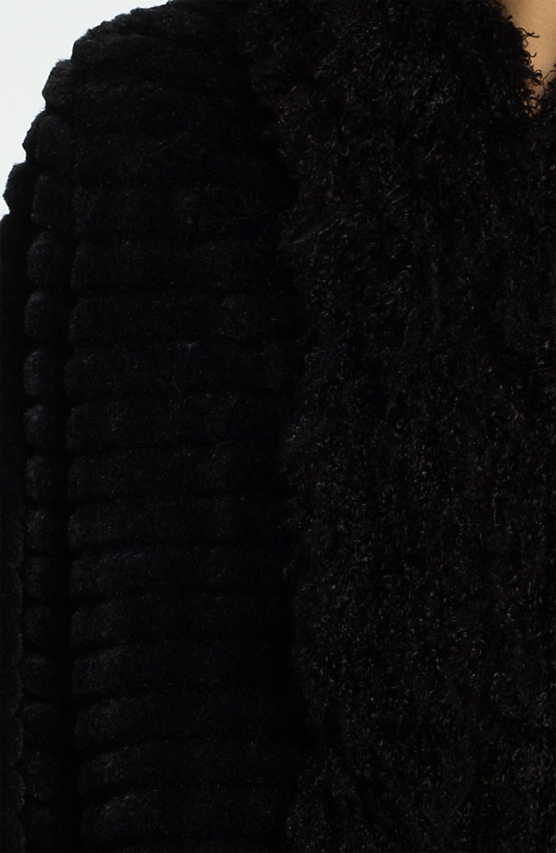 DAMSELLE,                             Faux Rabbit & Lamb Fur Coat,                             Alternate thumbnail 2, color,                             001