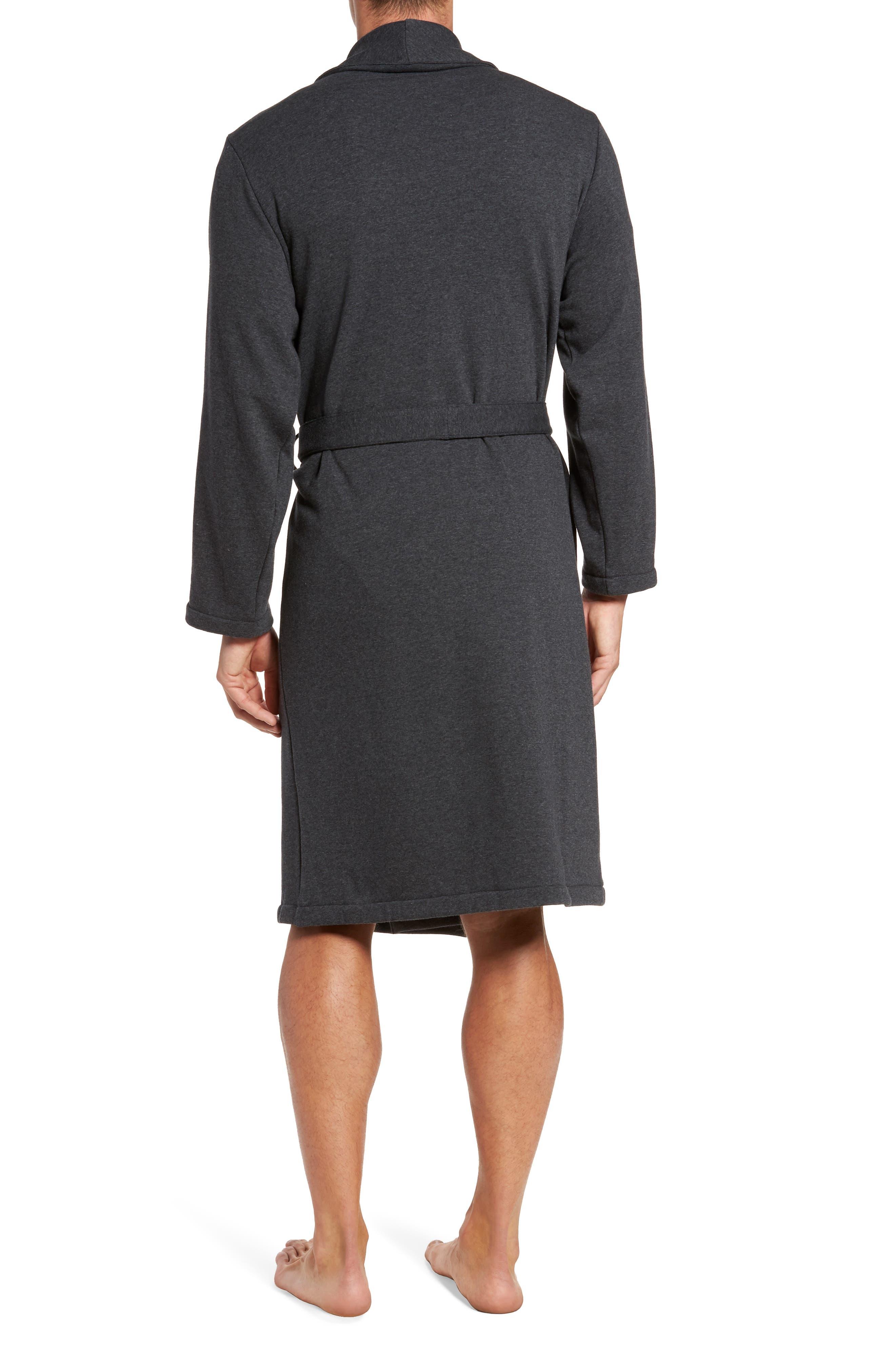 Jersey Fleece Robe,                             Alternate thumbnail 2, color,                             030