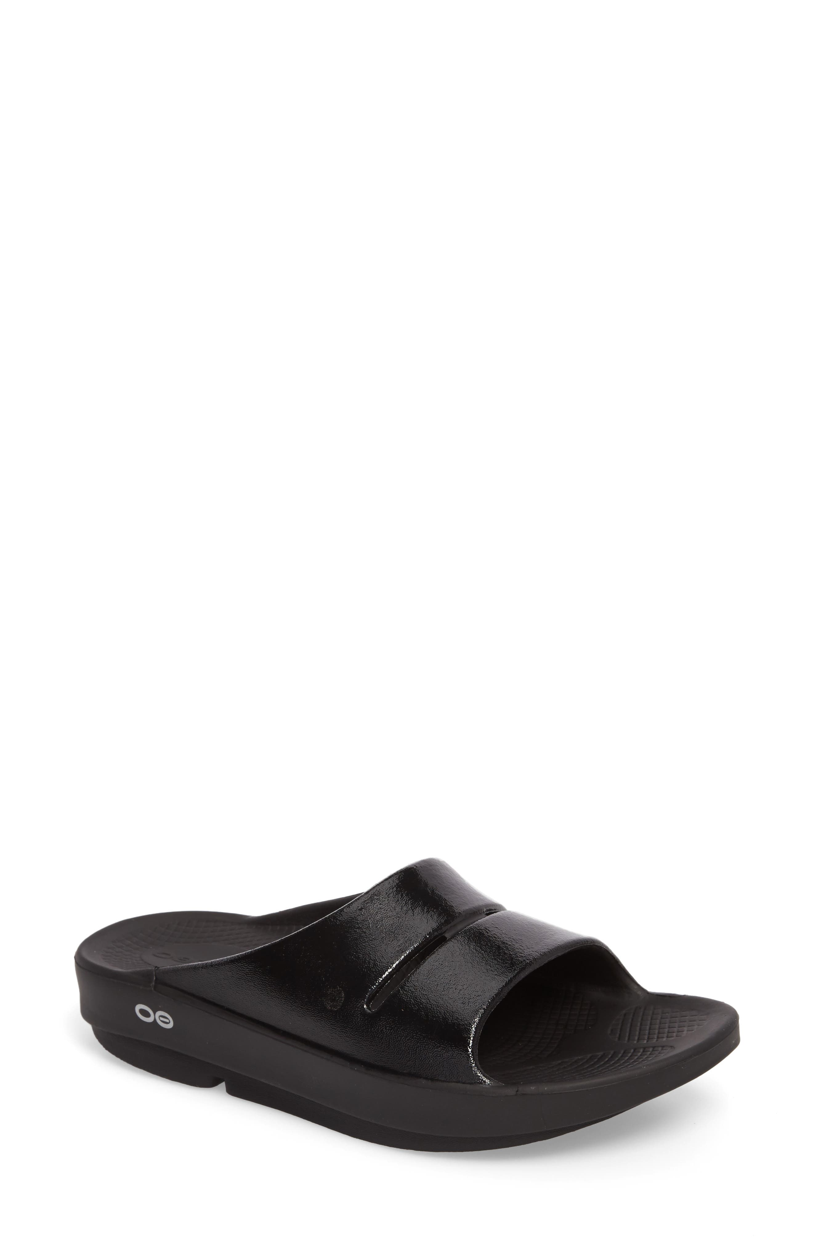 OOahh Luxe Slide Sandal,                             Main thumbnail 1, color,                             001