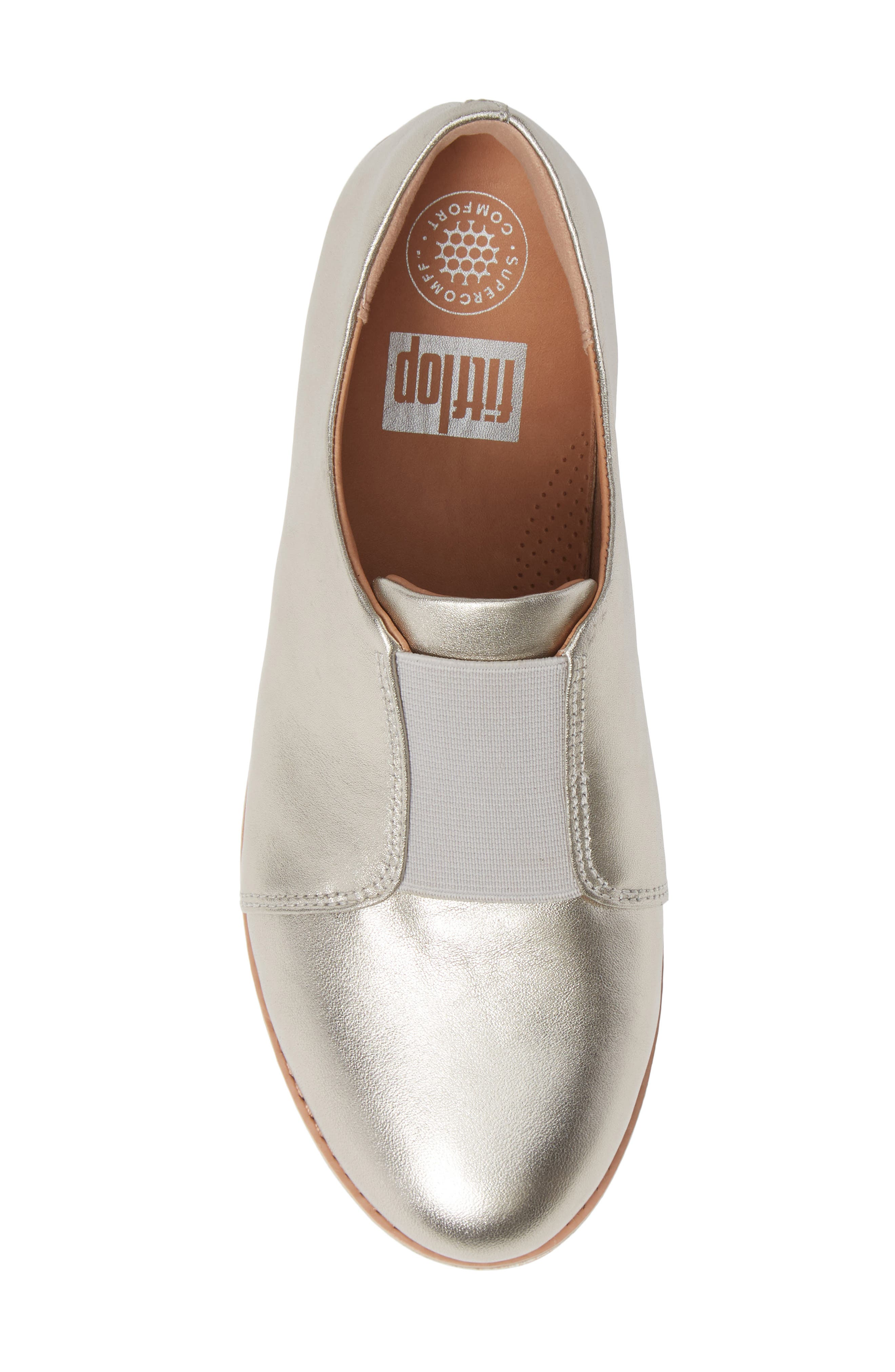 FITFLOP,                             Laceless Derby,                             Alternate thumbnail 5, color,                             SILVER LEATHER