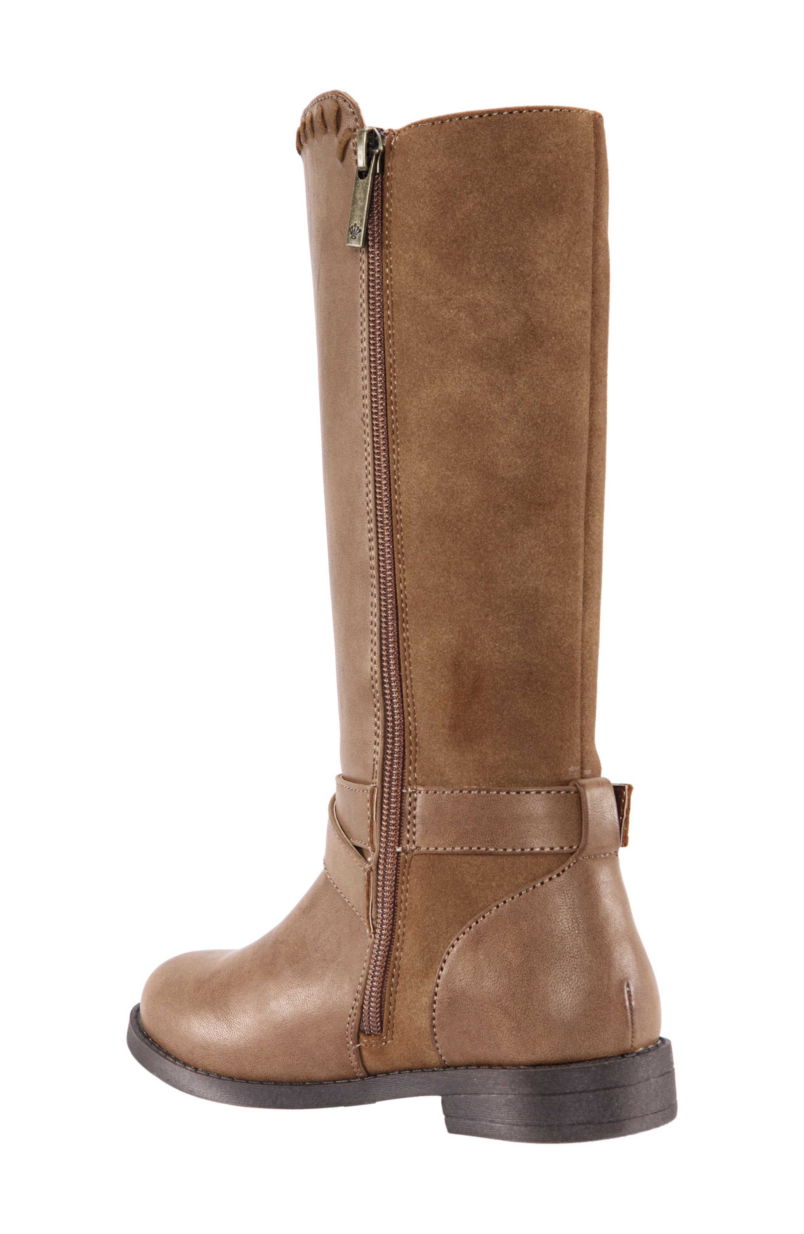 Jeanie Riding Boot,                             Alternate thumbnail 2, color,                             SADDLE BURNISHED