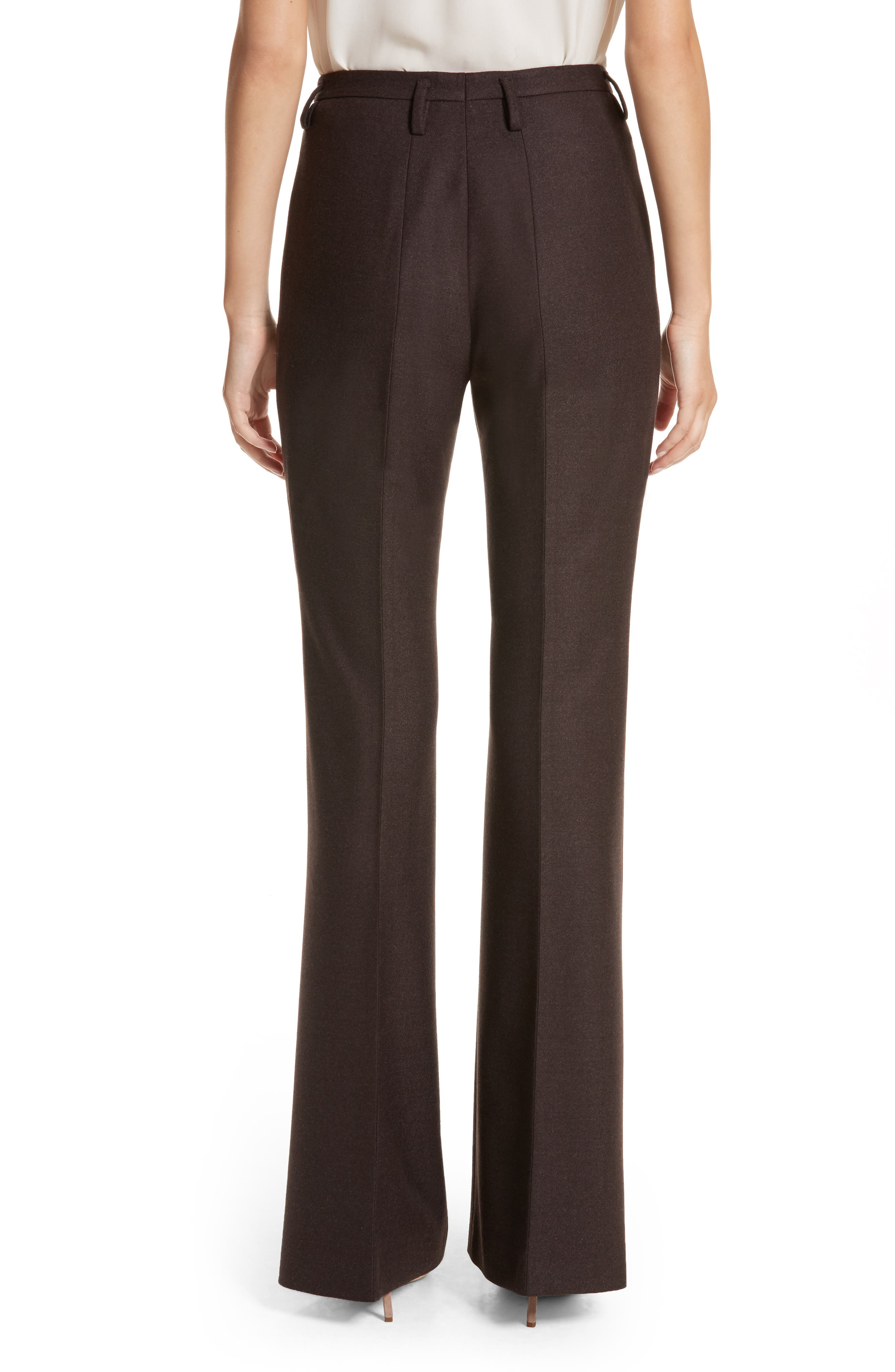 Farrah Stretch Wool Flare Pants,                             Alternate thumbnail 2, color,                             200