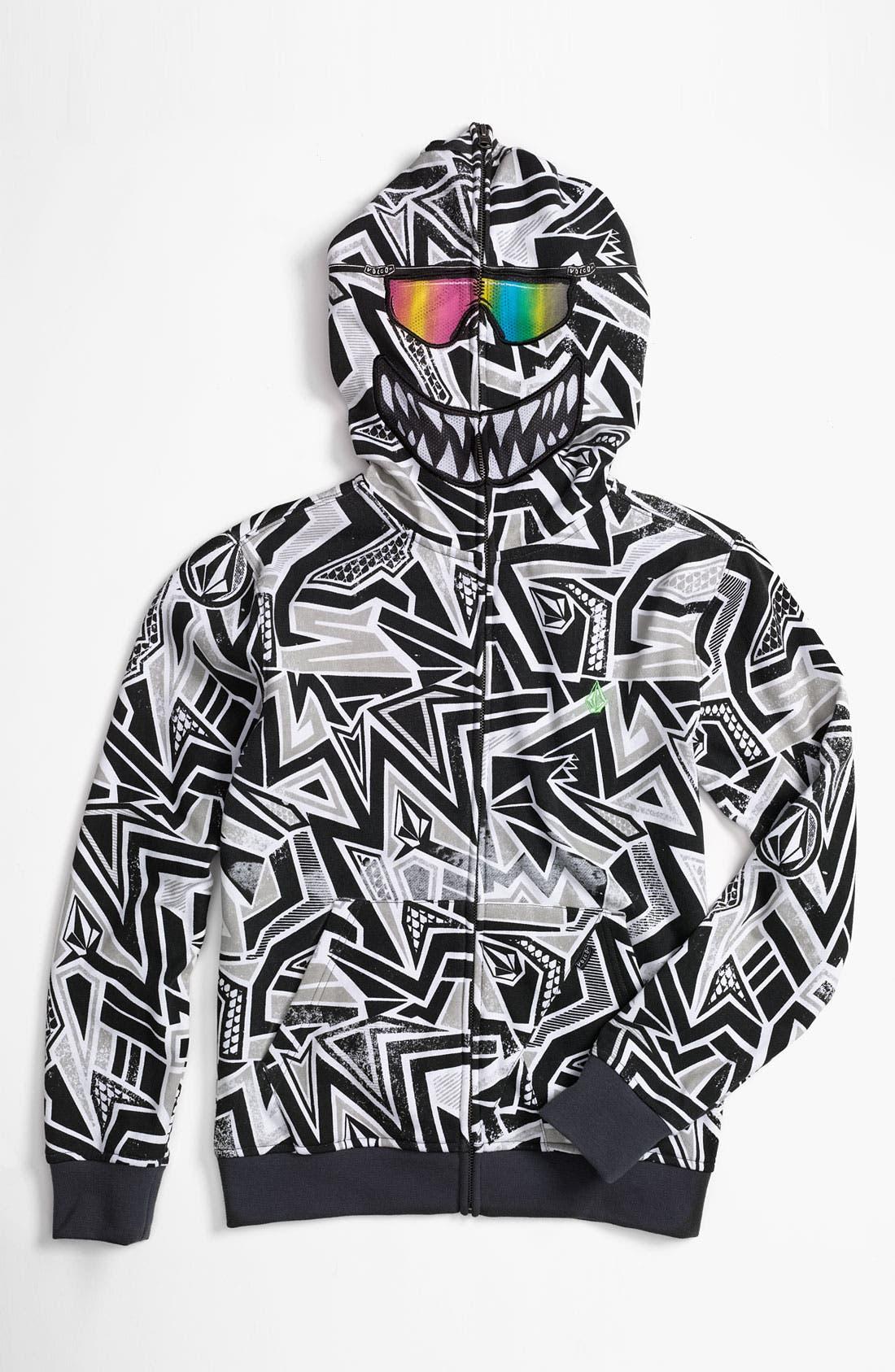 'Ktex' Zip Up Mask Hoodie,                             Main thumbnail 1, color,                             020