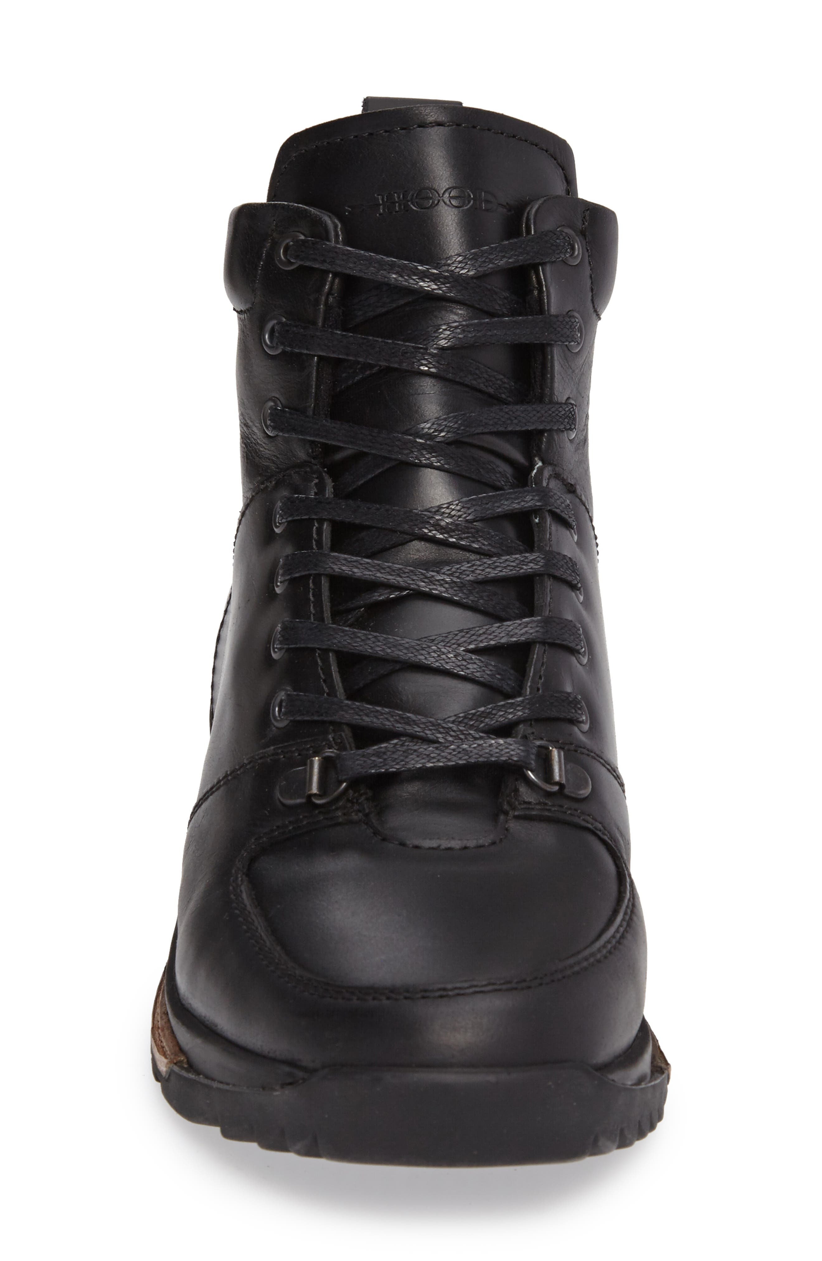 Concord Mid Top Wool Cuffed Waterproof Boot,                             Alternate thumbnail 3, color,                             001