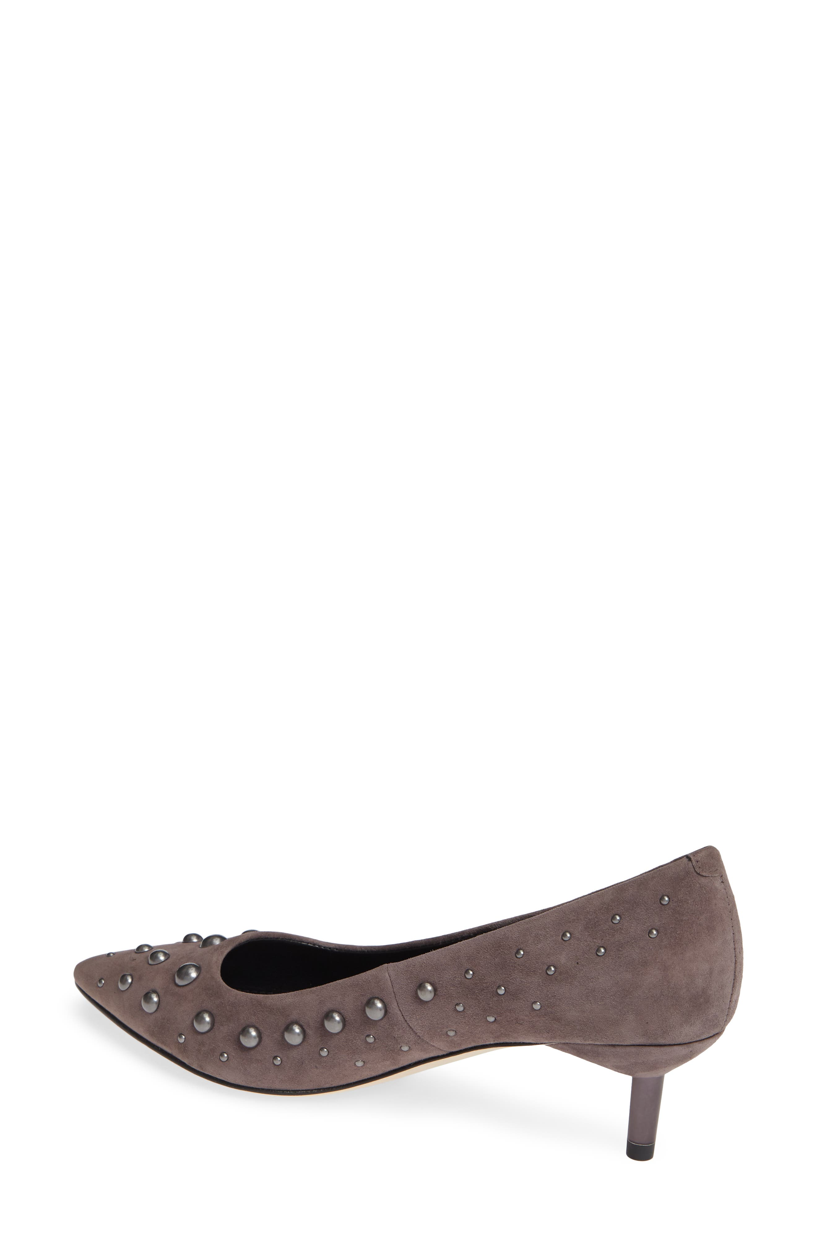 Bazie Studded Pump,                             Alternate thumbnail 2, color,                             GREY SUEDE