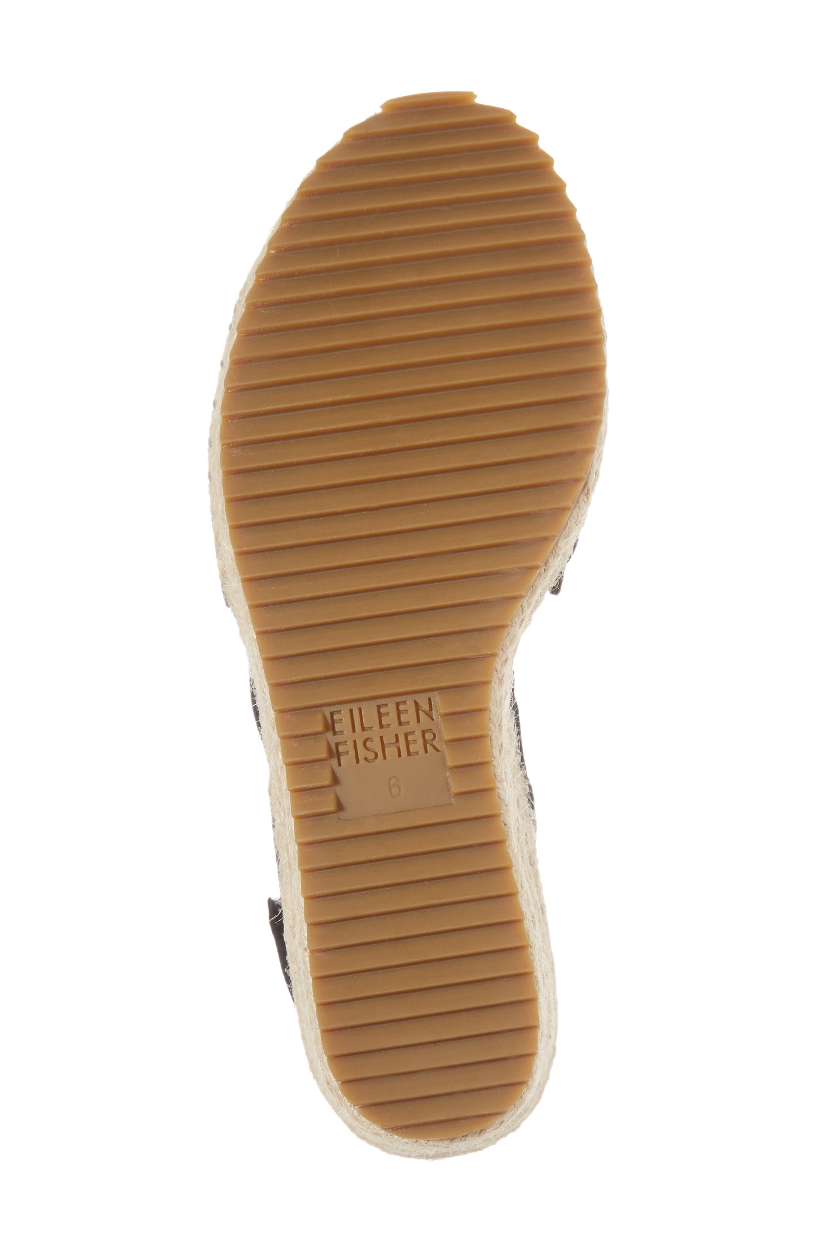 Largo Espadrille Wedge Sandal,                             Alternate thumbnail 6, color,                             001