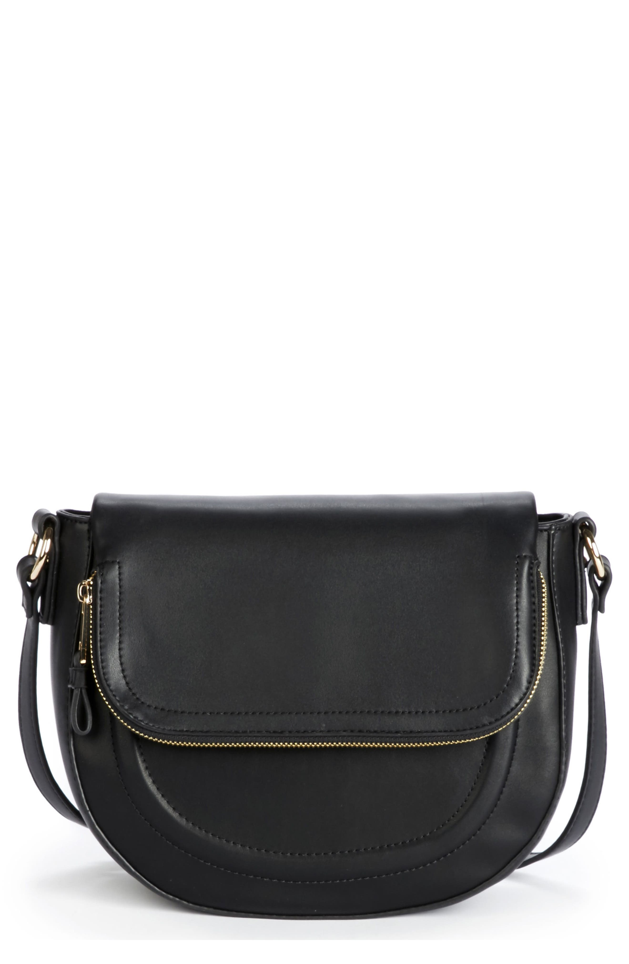 Adden Faux Leather Crossbody Bag,                         Main,                         color, 001