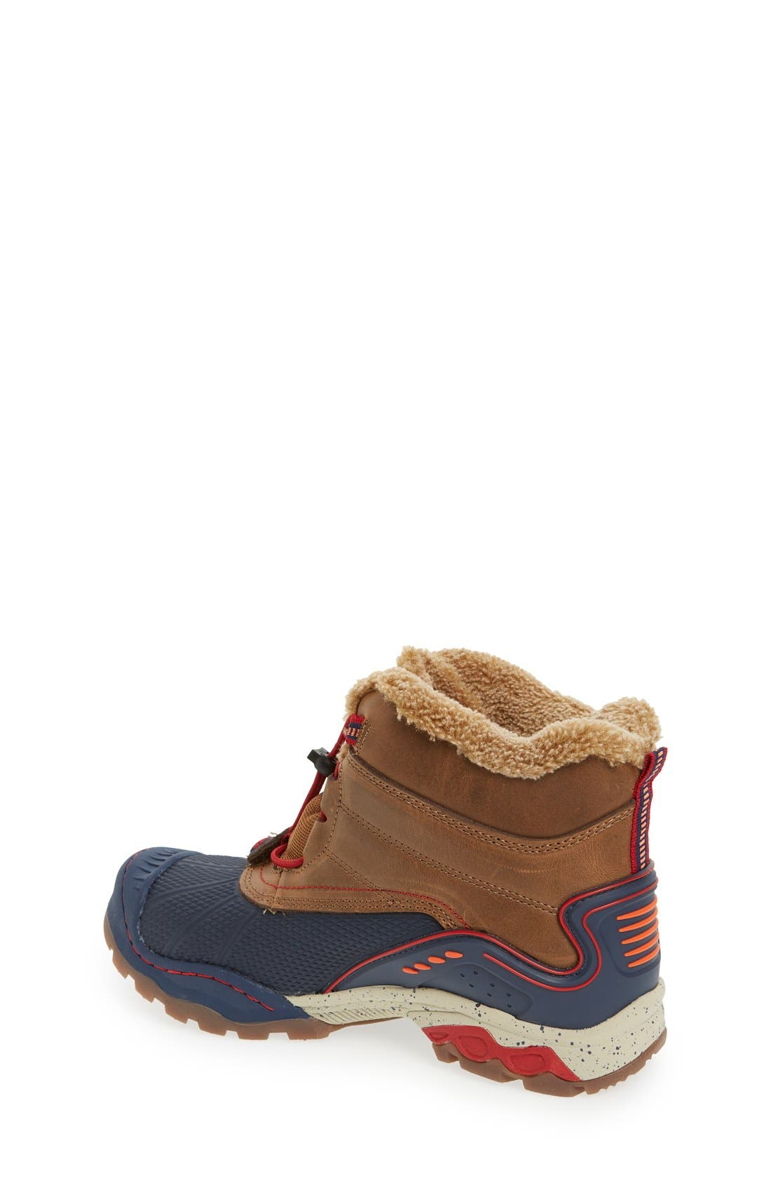 'Baltoro 3' Waterproof Insulated Snow Boot,                             Alternate thumbnail 2, color,                             BROWN/ NAVY