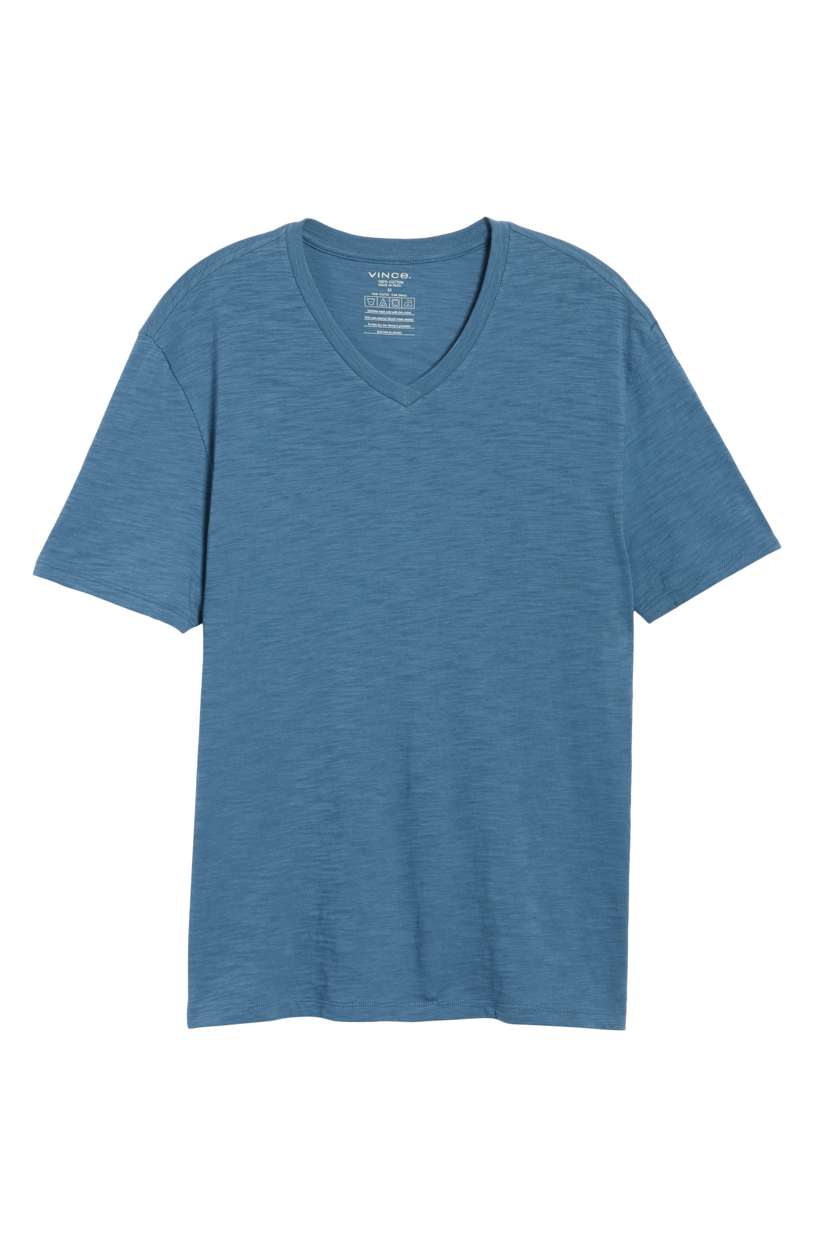 Slim Fit Slub V-Neck T-Shirt,                             Alternate thumbnail 11, color,