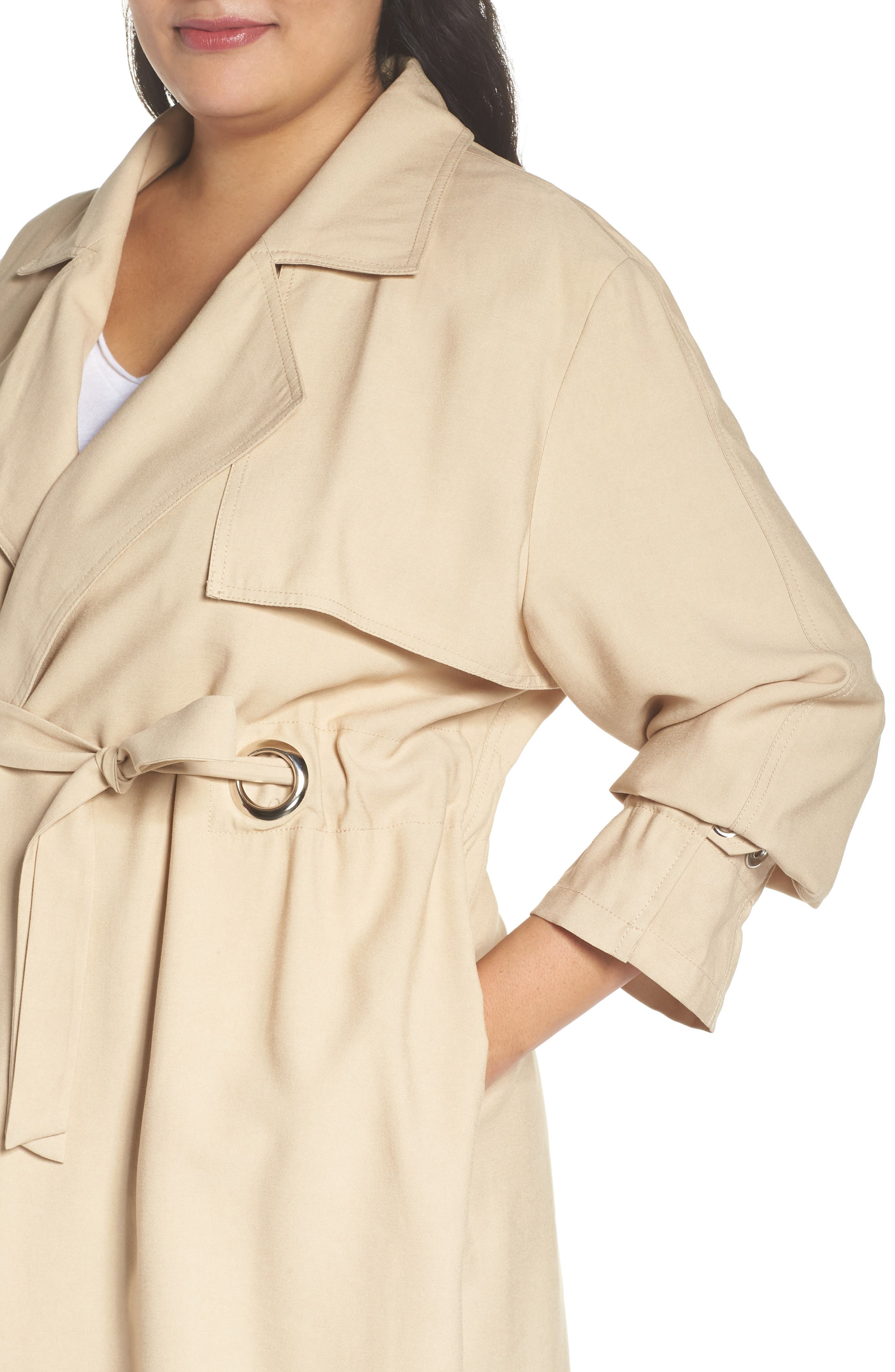 REBEL WILSON X ANGELS,                             Draped Trench Jacket,                             Alternate thumbnail 4, color,                             251