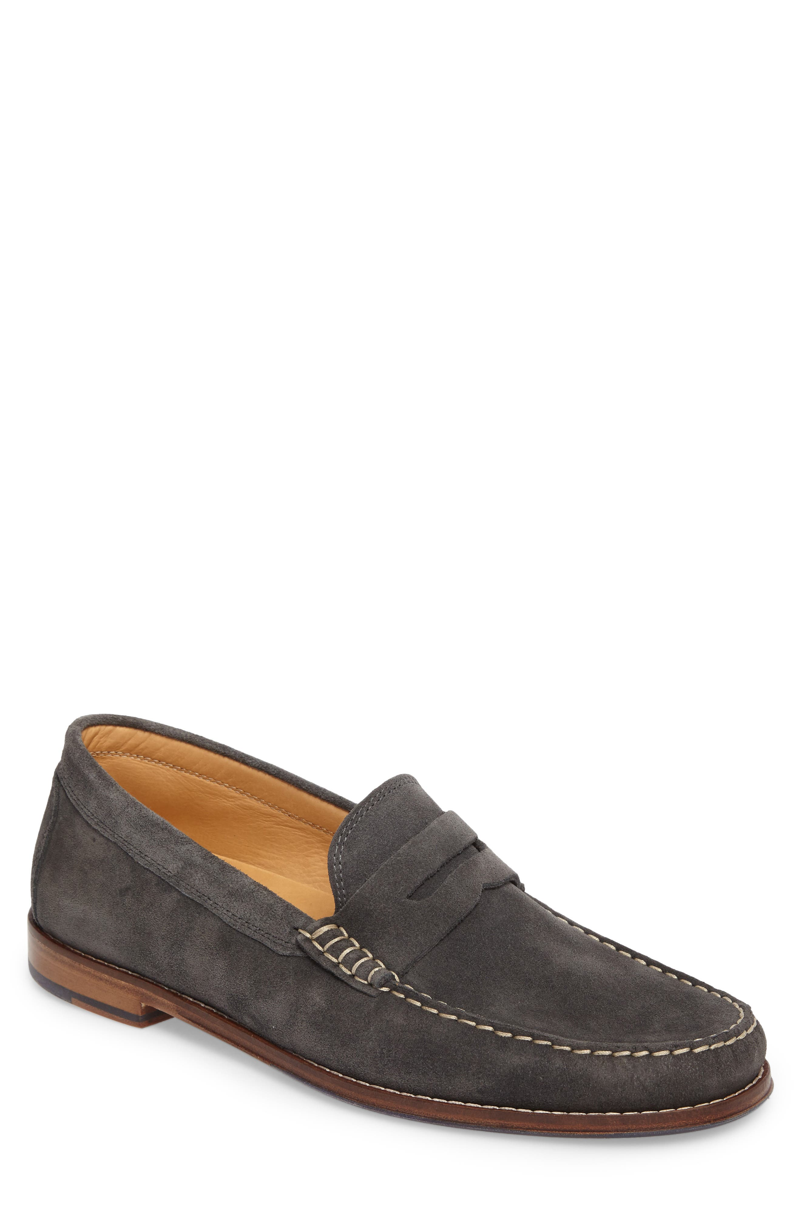 Ripley Penny Loafer,                             Main thumbnail 1, color,                             GREY LEATHER
