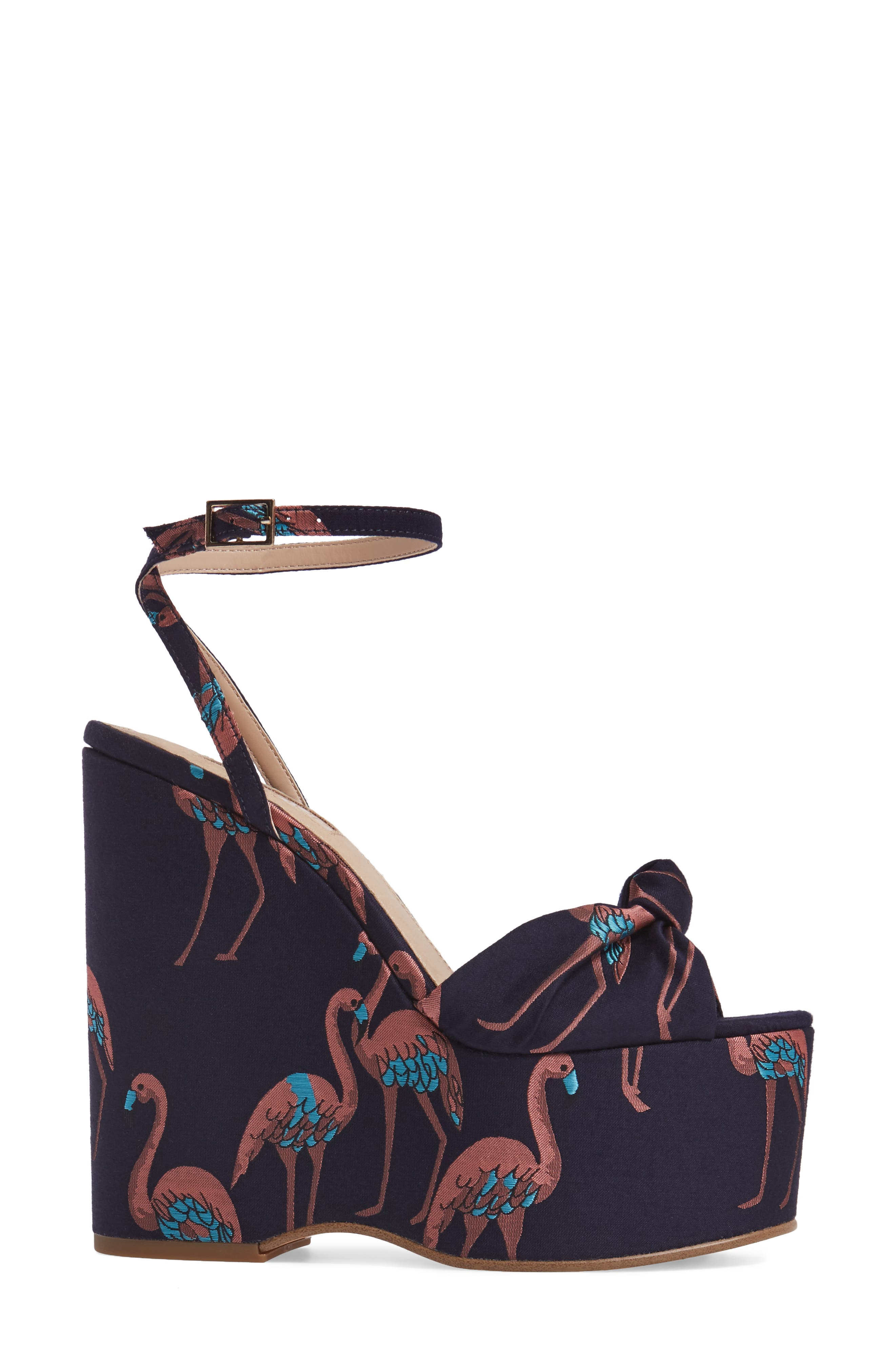 Waltz Knotted Platform Wedge,                             Alternate thumbnail 6, color,