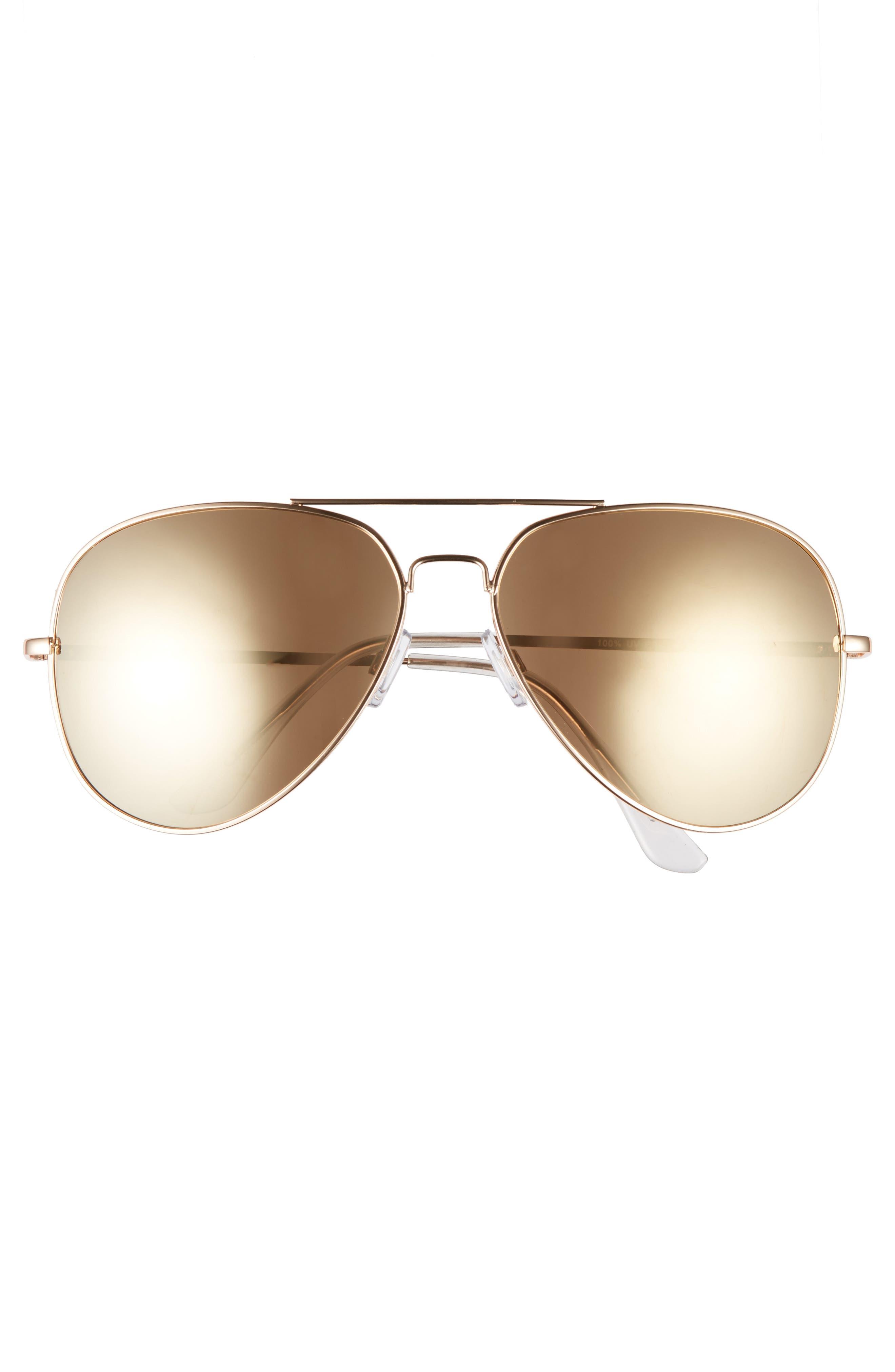 60mm Large Aviator Sunglasses,                             Alternate thumbnail 6, color,
