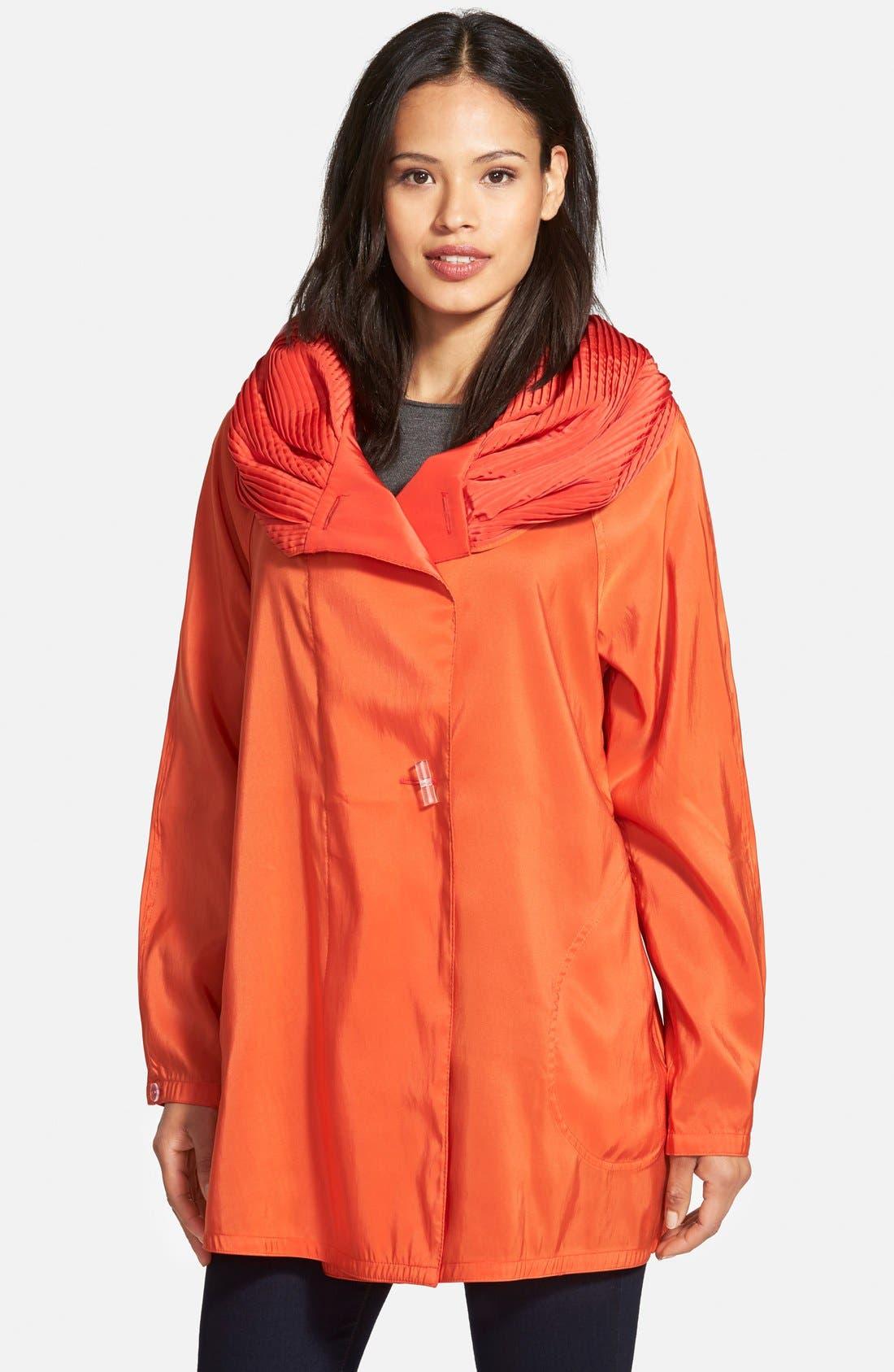 'Mini Donatella' Reversible Pleat Hood Packable Travel Coat,                             Main thumbnail 15, color,
