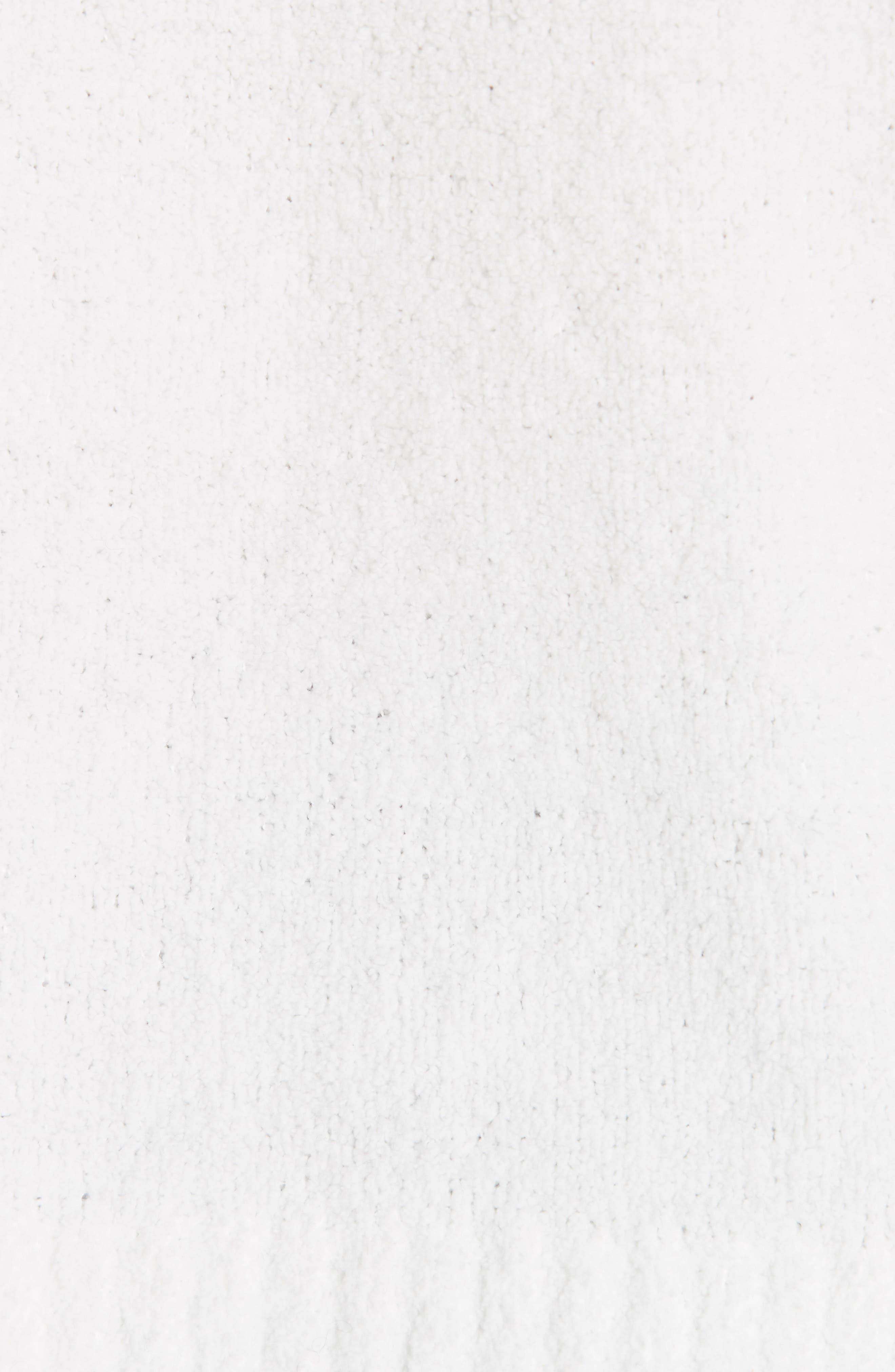 Boho Chenille Hoodie,                             Alternate thumbnail 5, color,                             SNOW