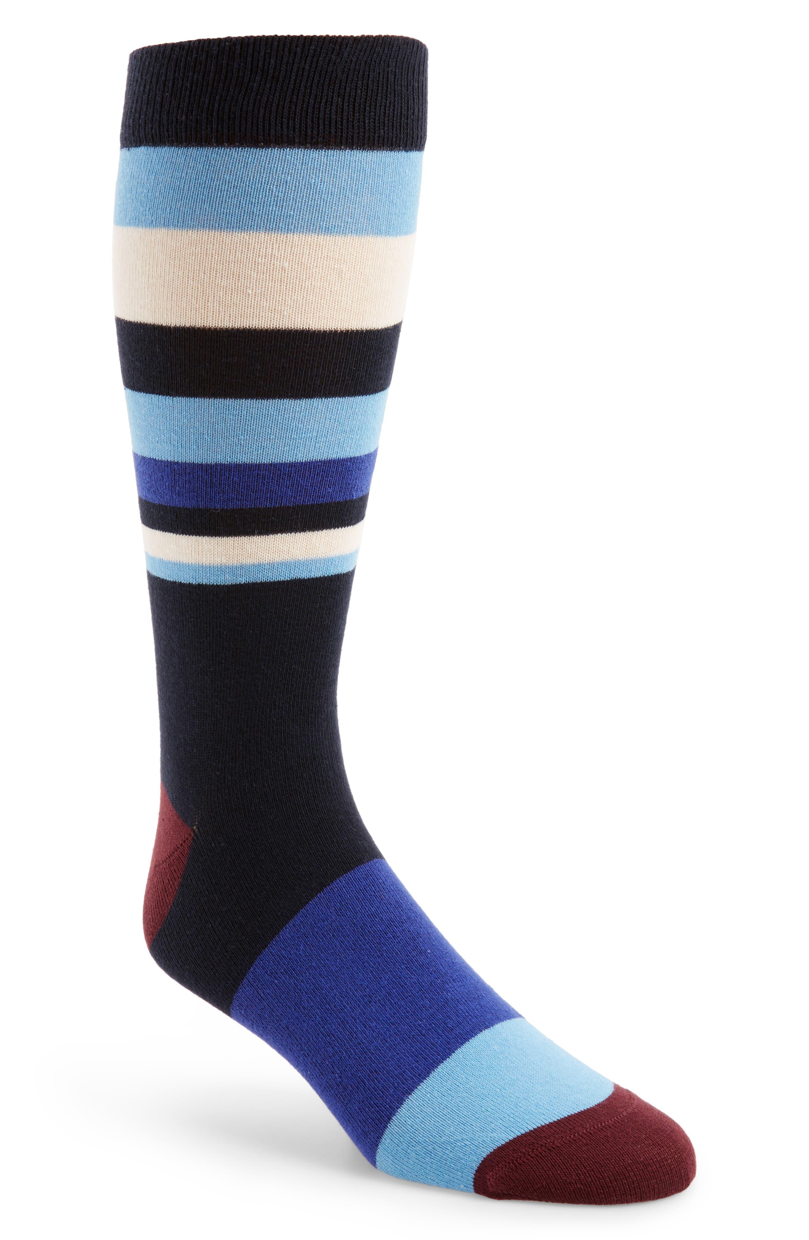 Striped Socks,                         Main,                         color, 410