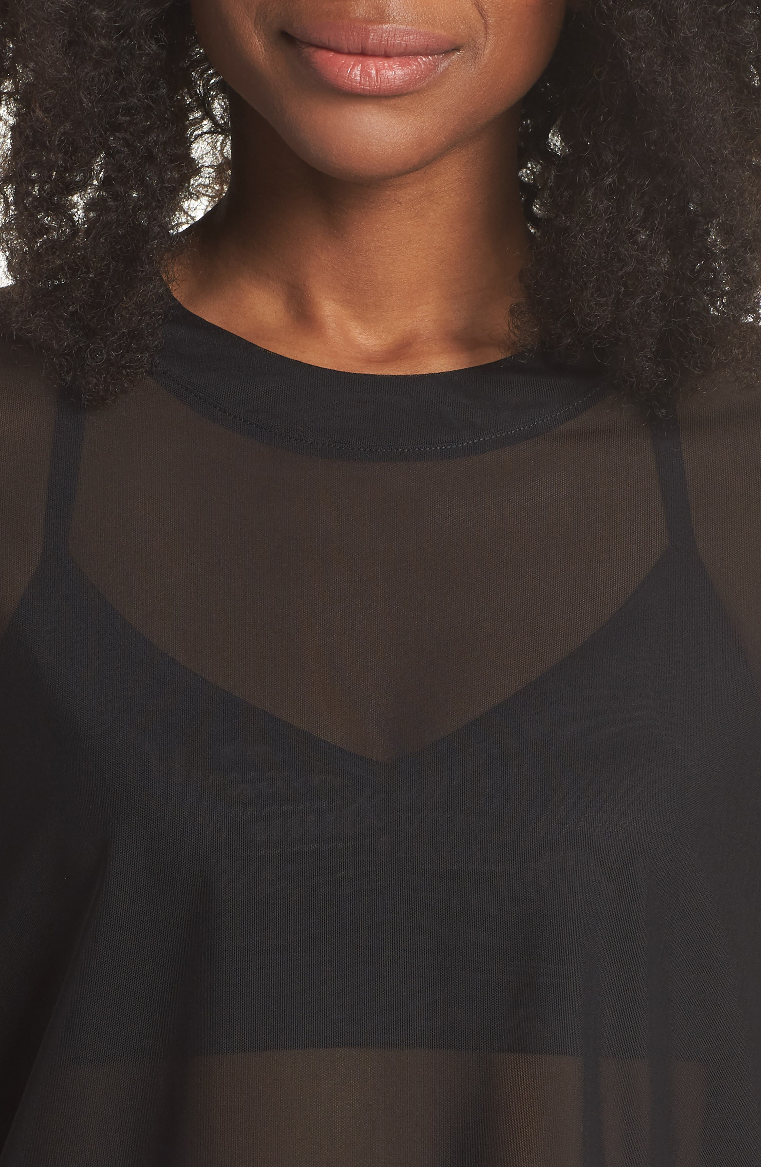 Ambiance Sheer Pullover,                             Alternate thumbnail 4, color,                             010