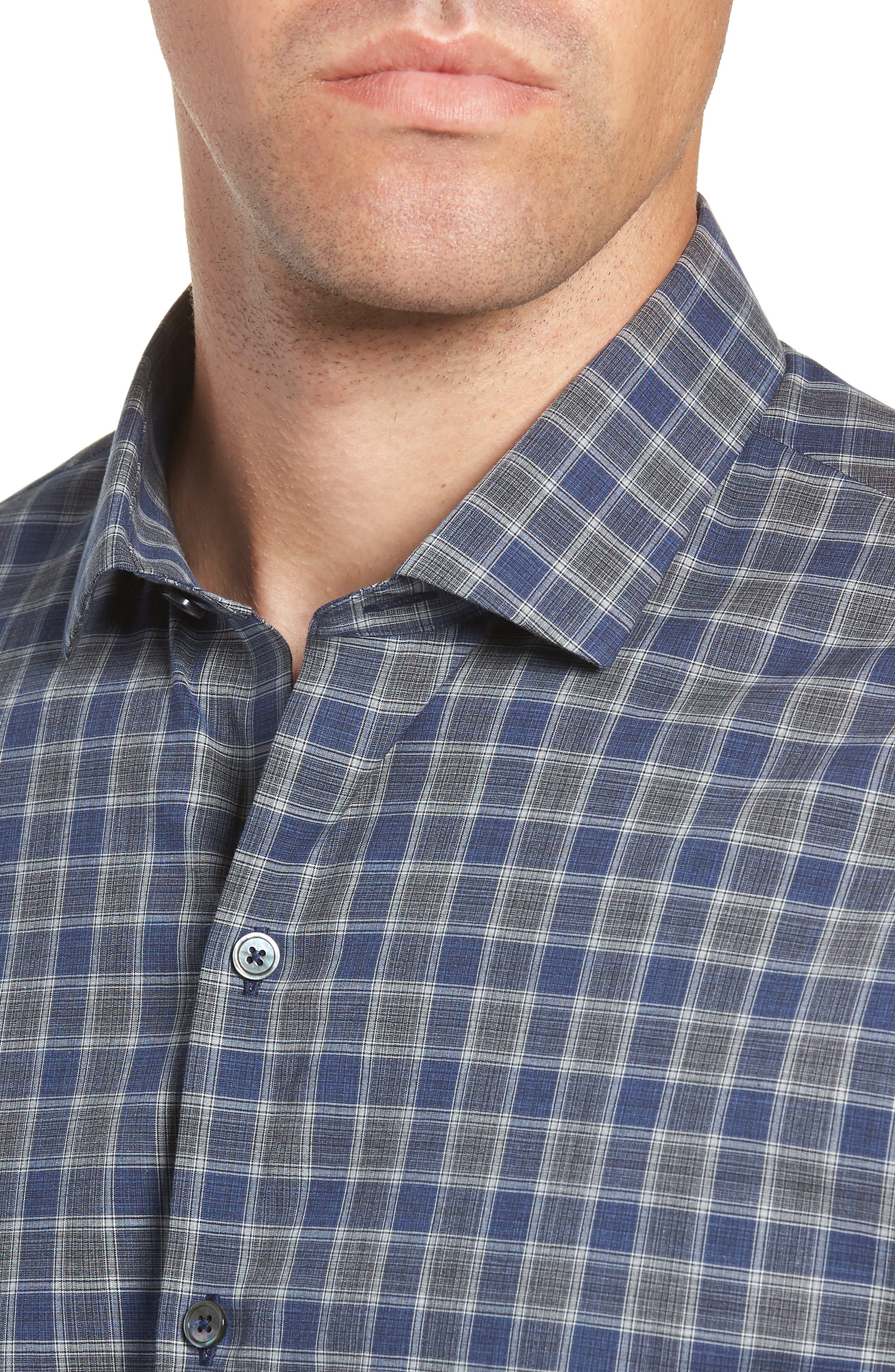 ZACHARY PRELL,                             Giunta Regular Fit Check Sport Shirt,                             Alternate thumbnail 2, color,                             BLUE