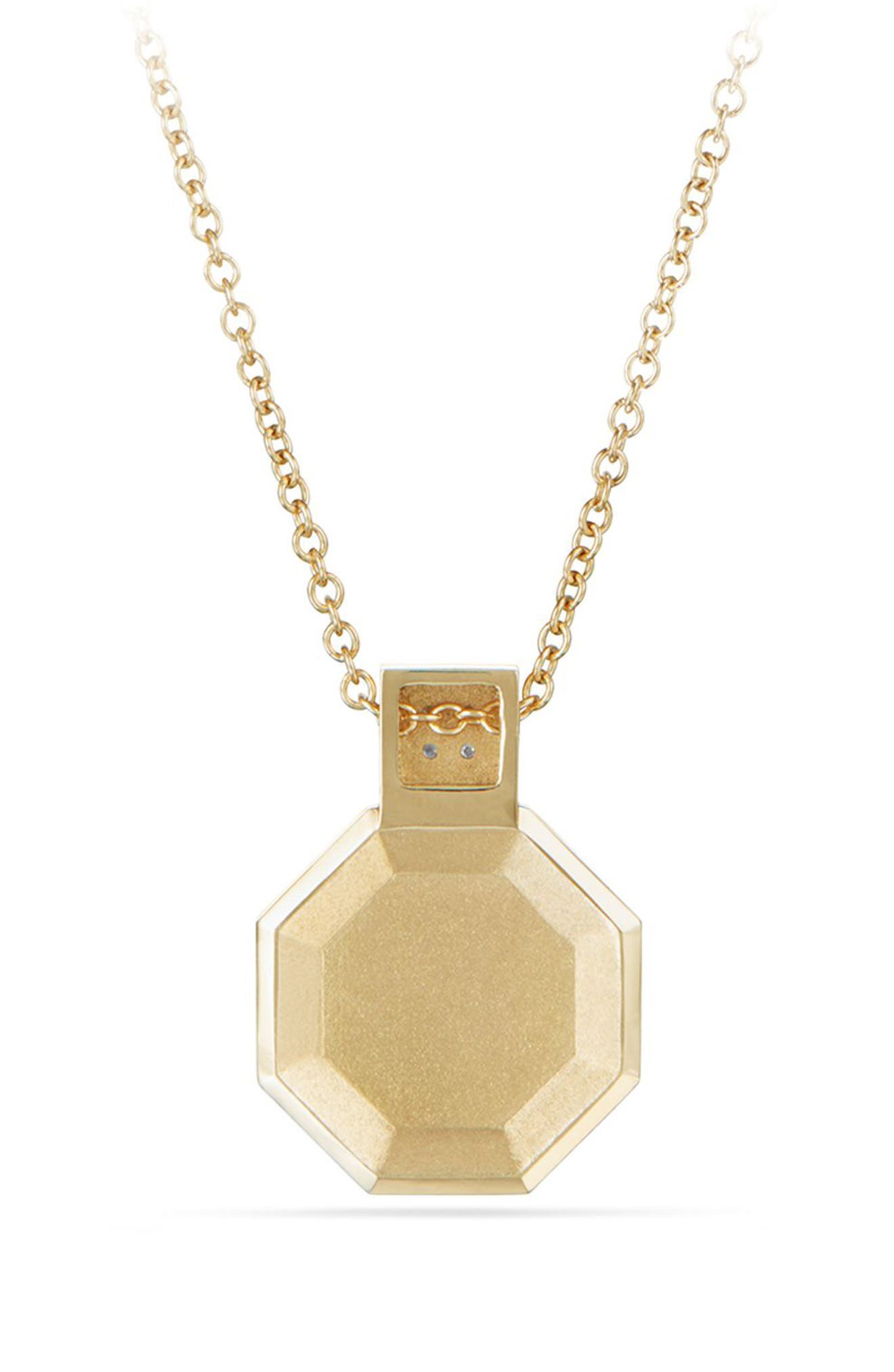 Guilin Octagon Pendant Necklace,                             Alternate thumbnail 2, color,                             YELLOW GOLD/ DIAMOND