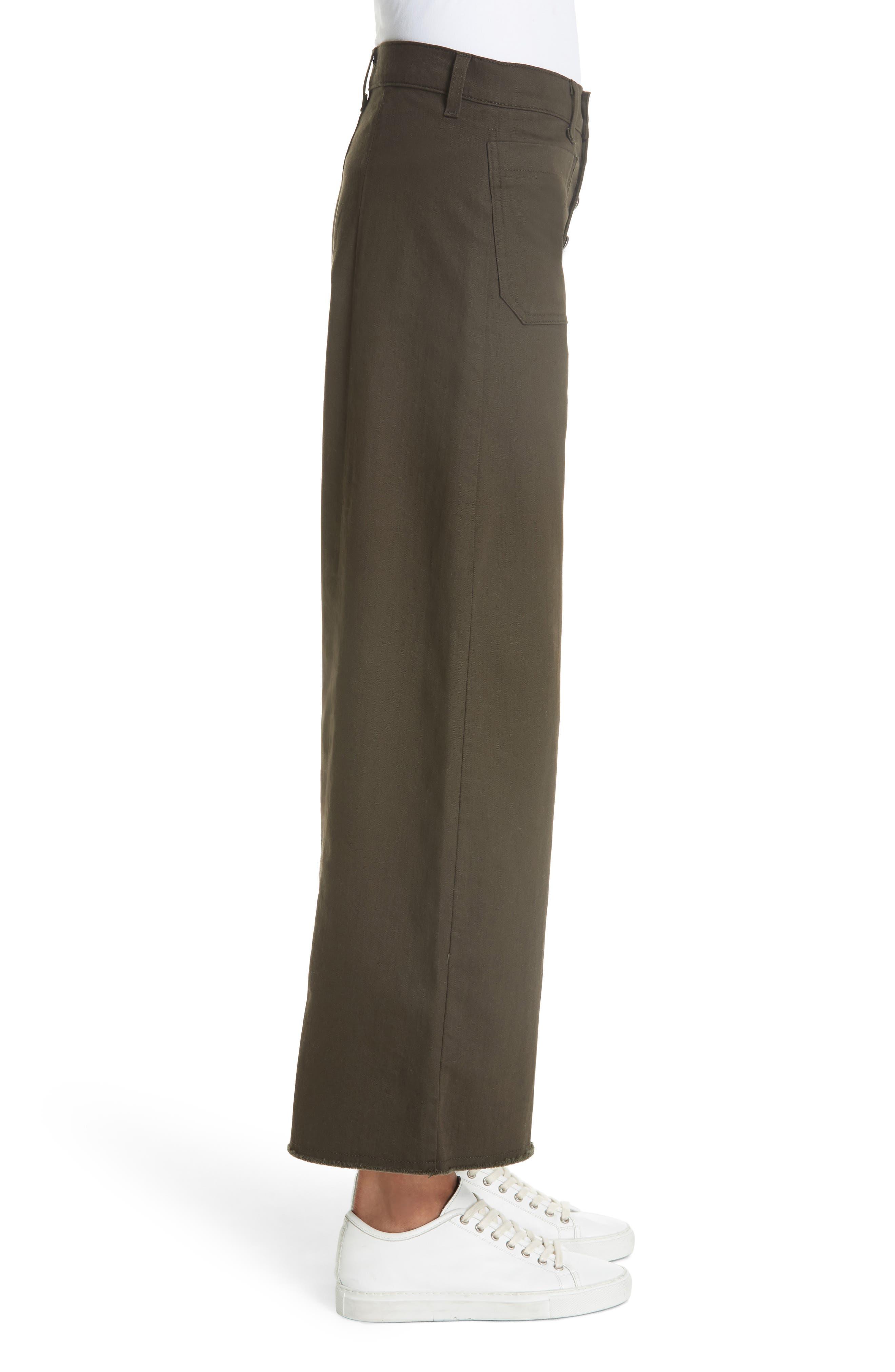 Carmine High Waist Wide Leg Crop Jeans,                             Alternate thumbnail 3, color,                             COMBAT