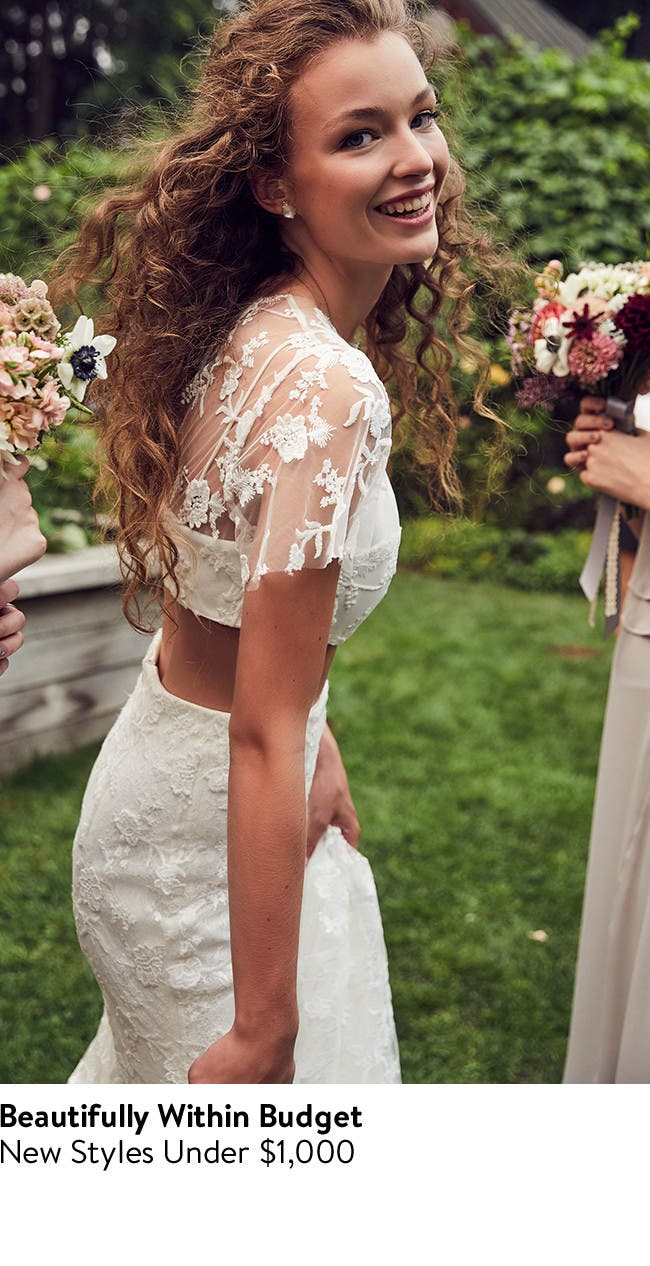 Beautifully within budget: new wedding dresses under $1,000.