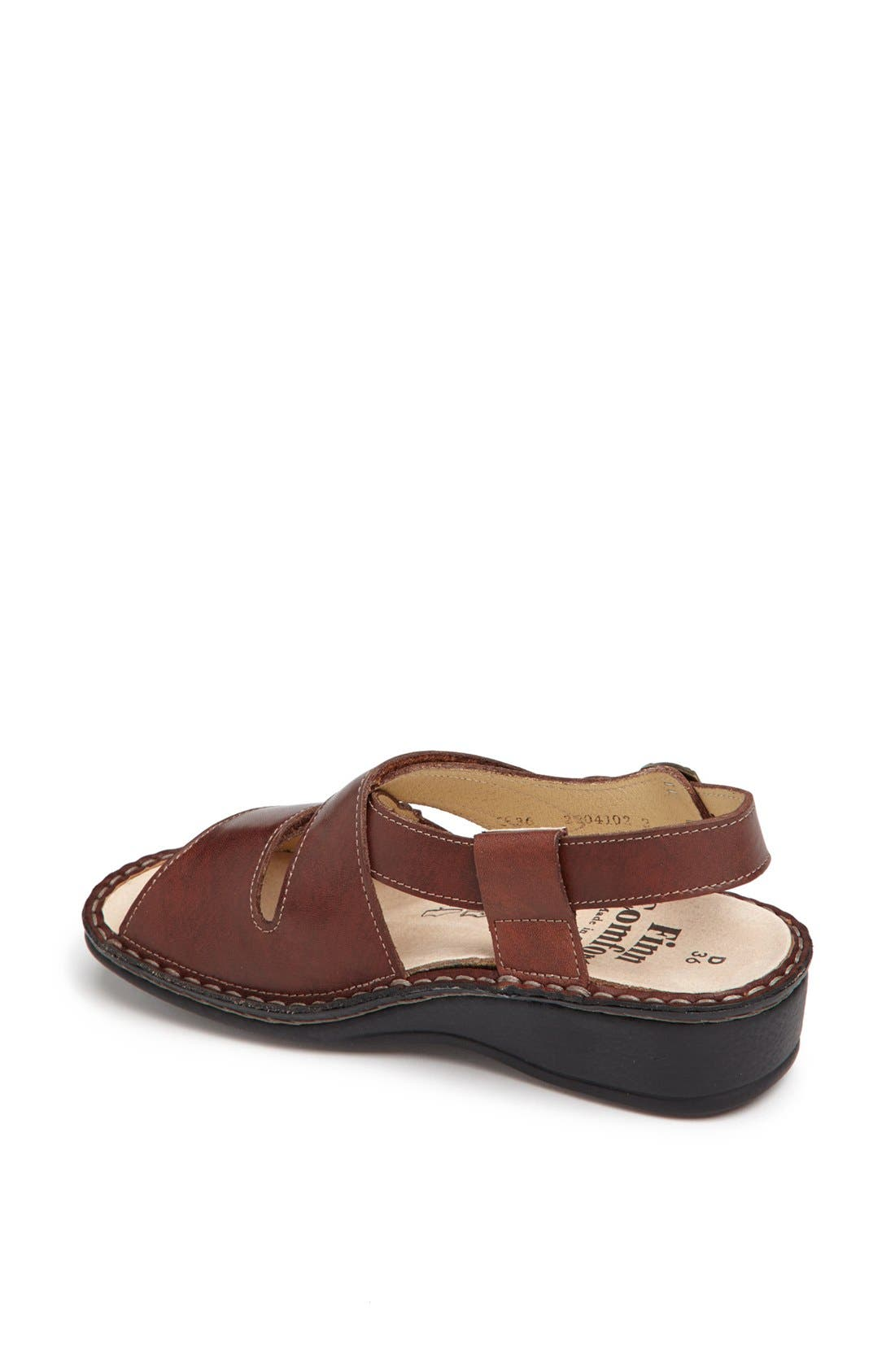 'Jersey' Sandal,                             Alternate thumbnail 4, color,                             BRANDY COUNTRY