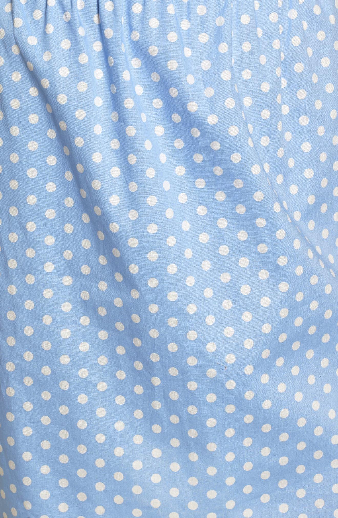 Ruffle Cold Shoulder Dress,                             Alternate thumbnail 6, color,                             463