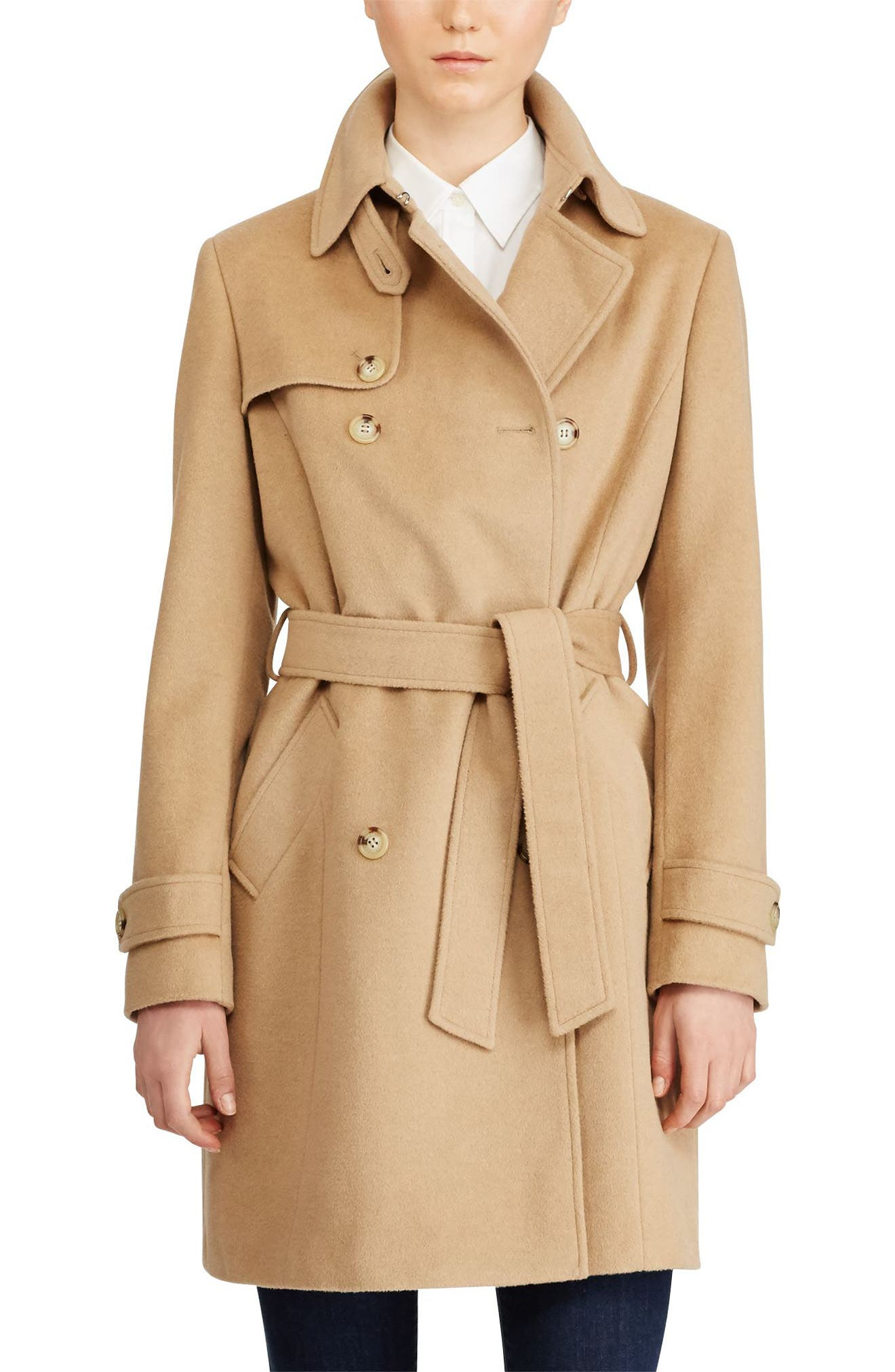 Wool Blend Trench Coat,                             Main thumbnail 1, color,
