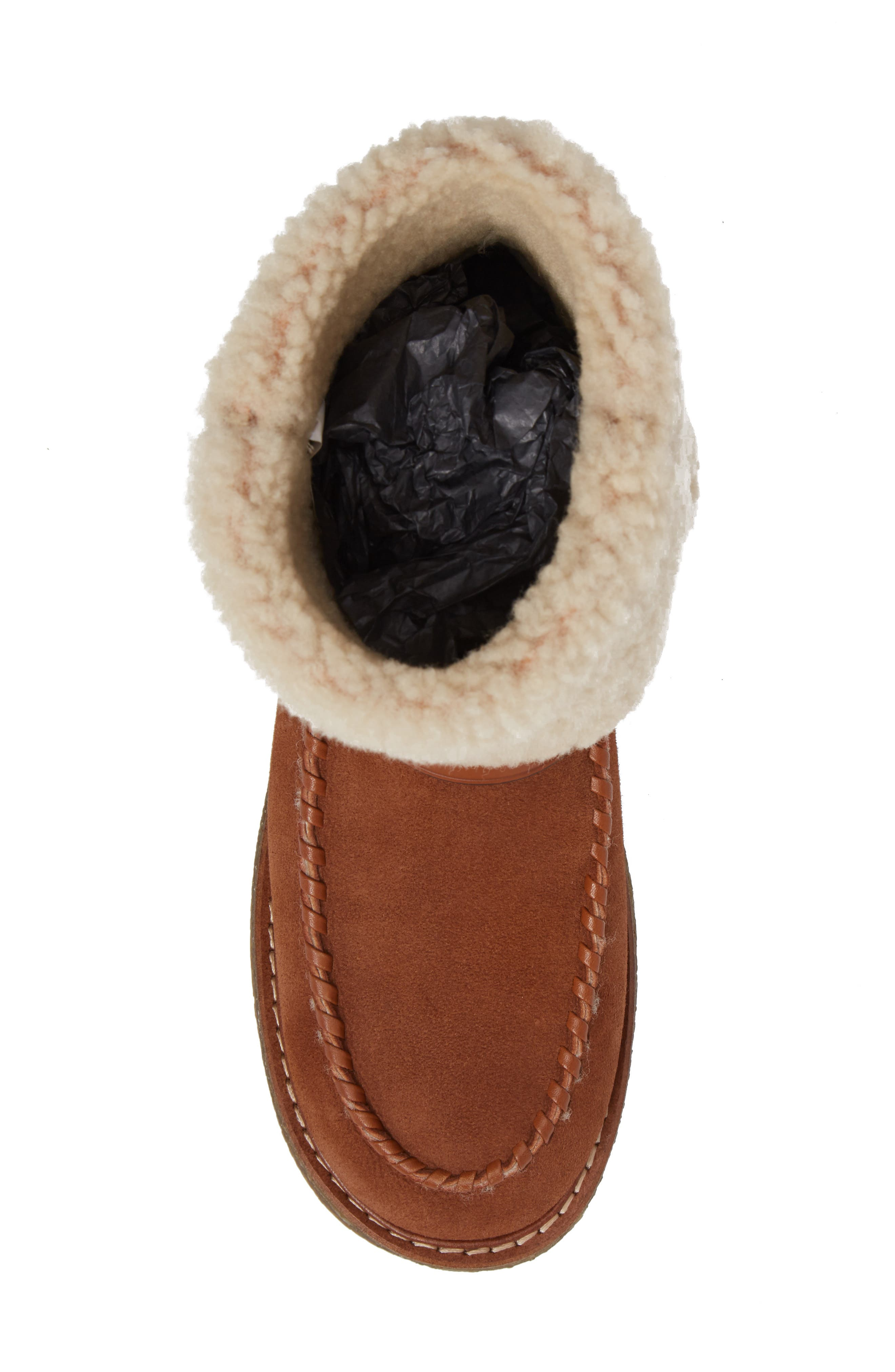 Genuine Shearling Moto Boot,                             Alternate thumbnail 14, color,