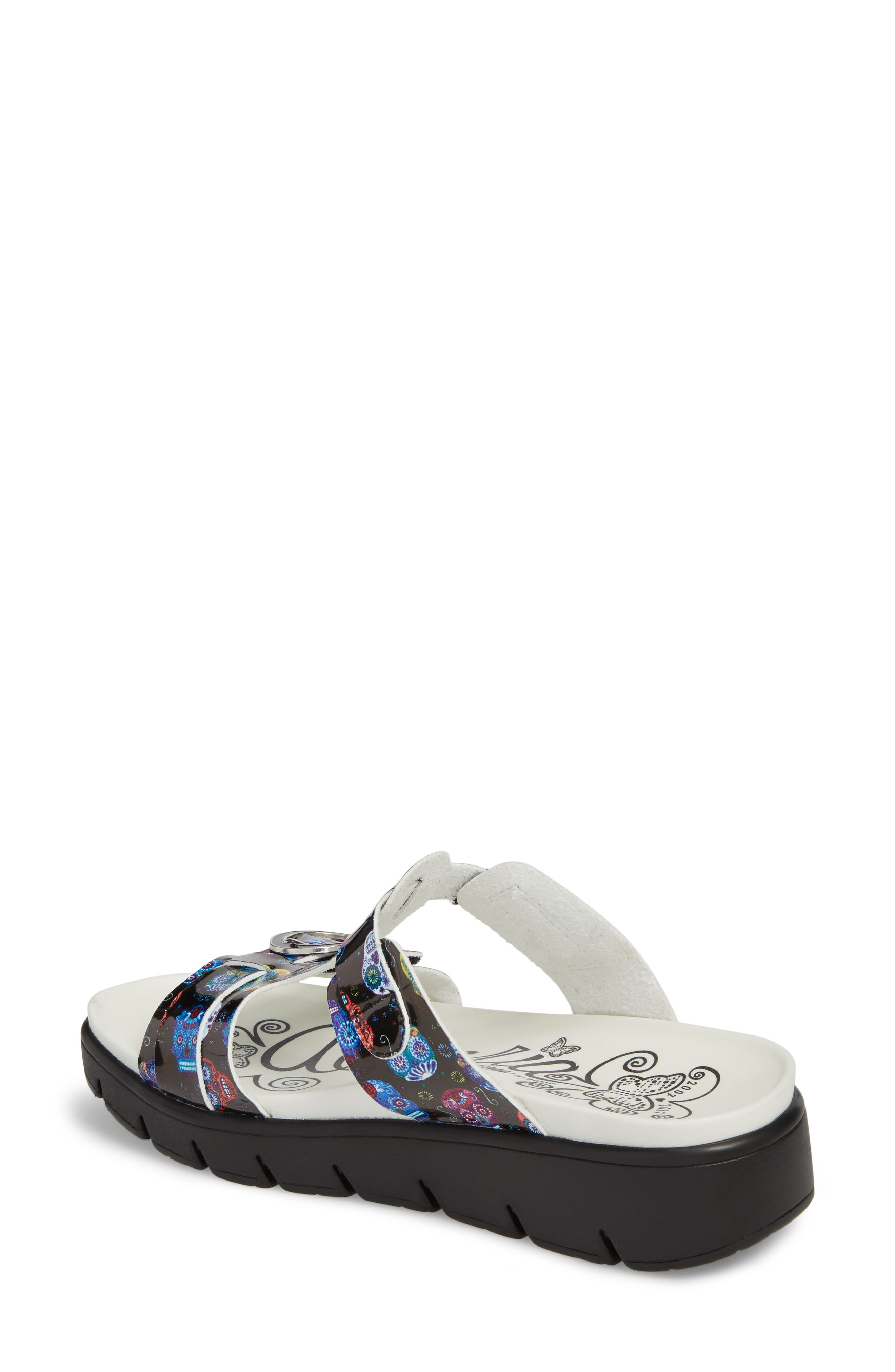 Vita Sandal,                             Alternate thumbnail 2, color,                             SUGAR SKULLS LEATHER