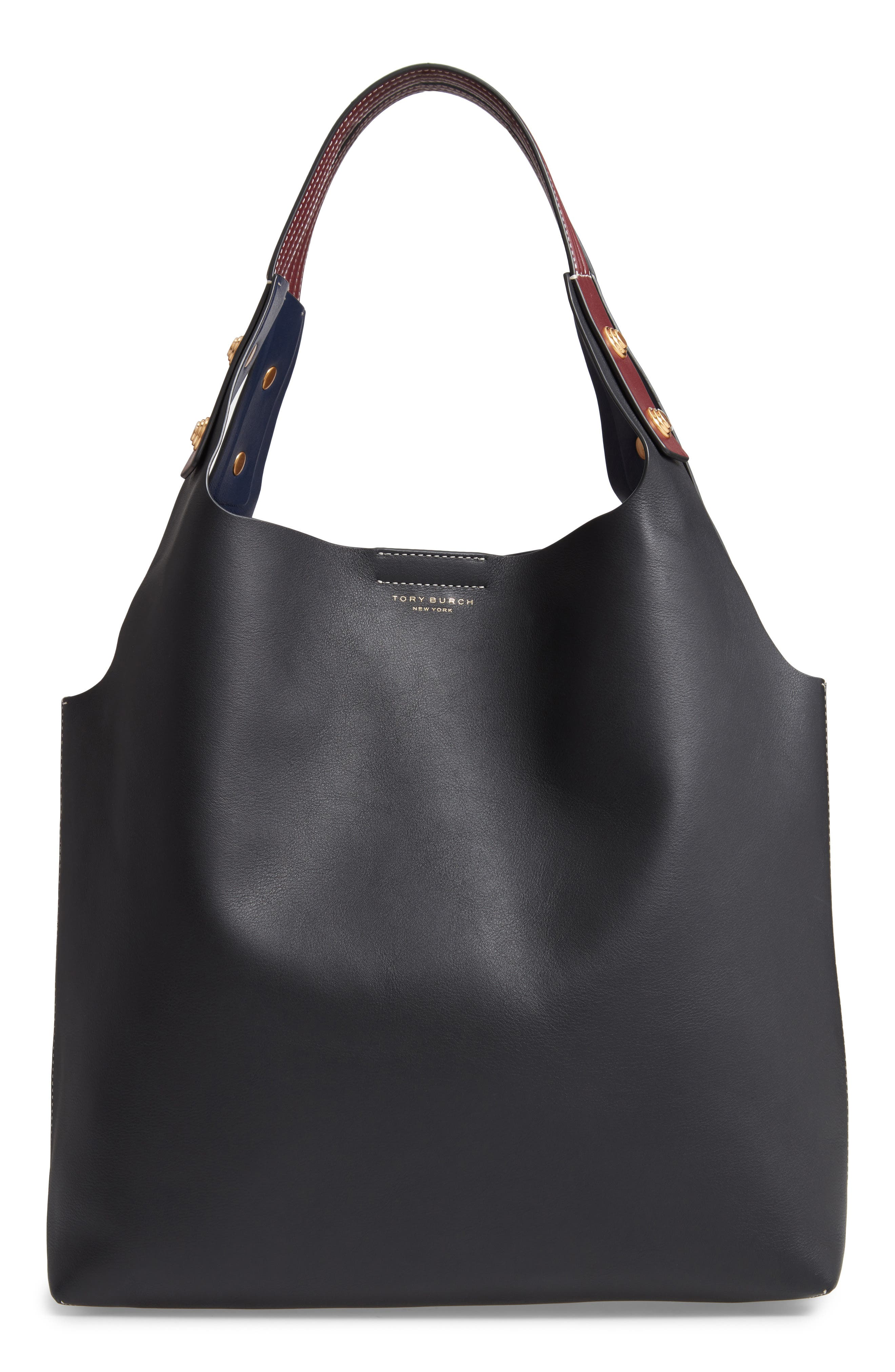 Rory Leather Tote,                         Main,                         color, 001