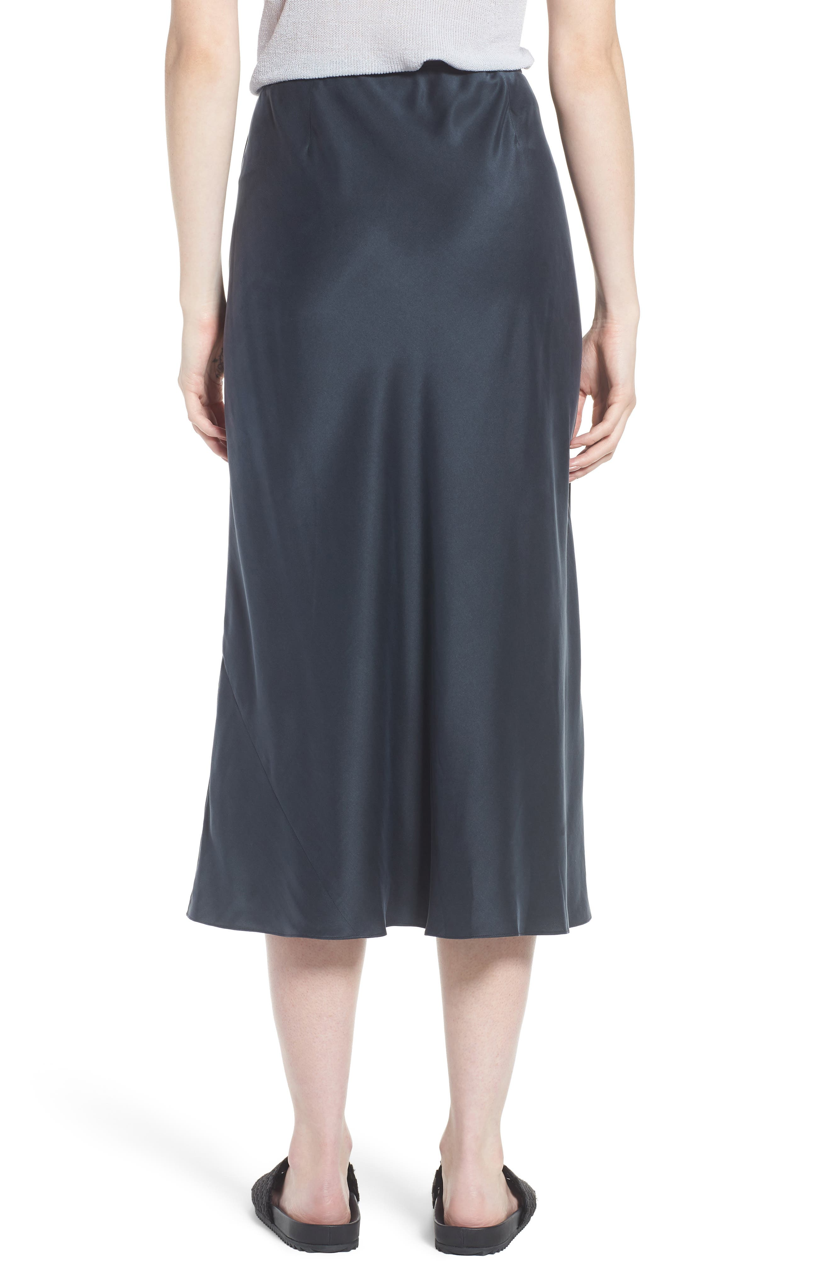 Bias Cut Silk Skirt,                             Alternate thumbnail 2, color,                             025