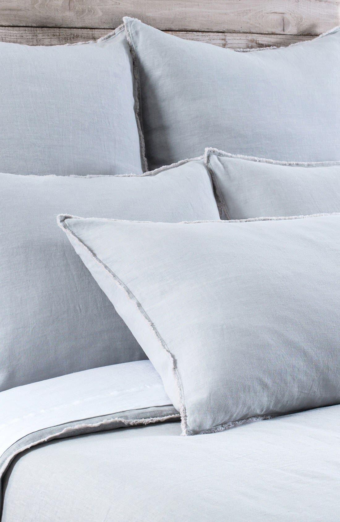 'Blair' Linen Duvet Cover,                         Main,                         color, OCEAN
