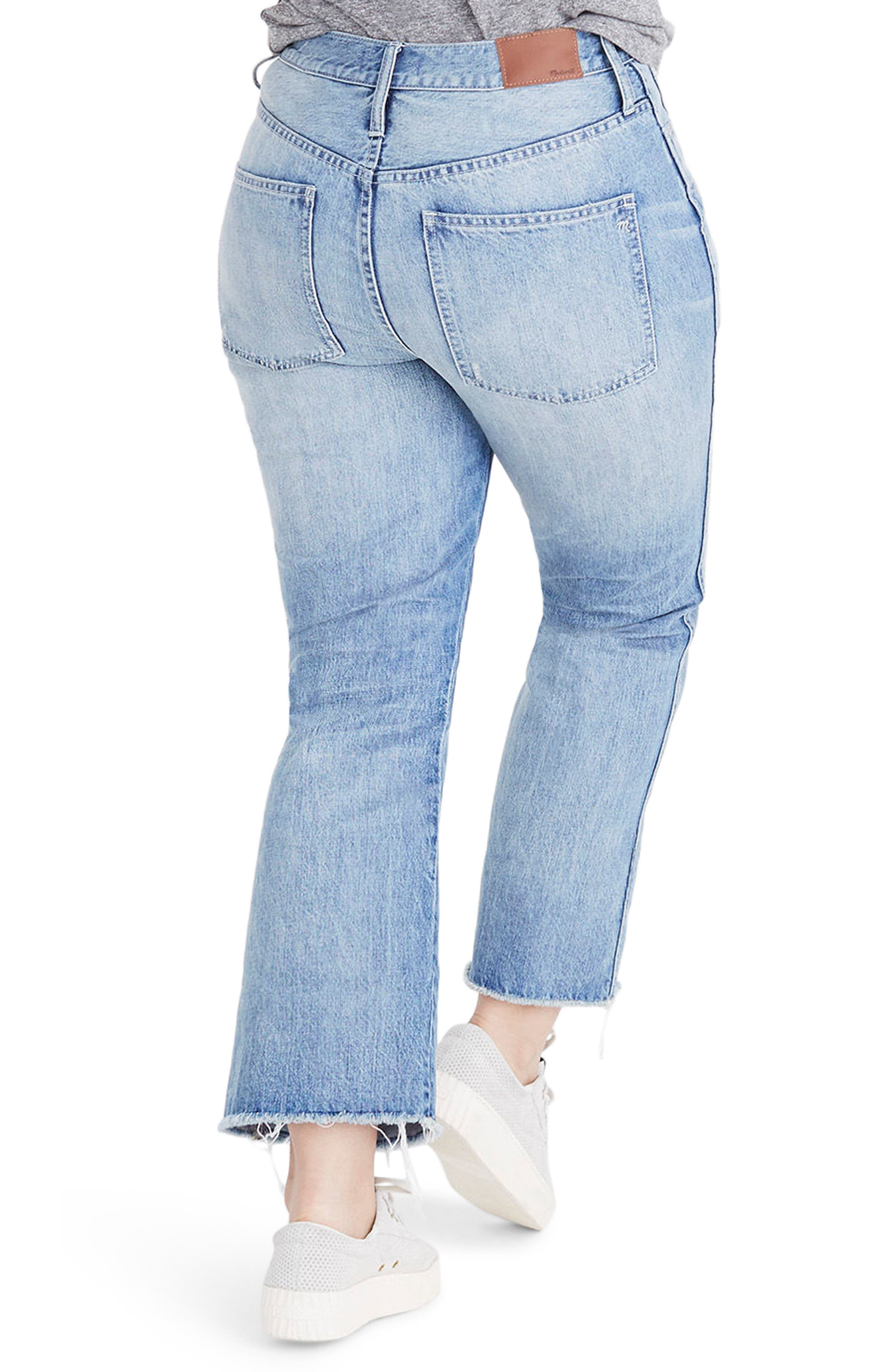 Rigid Crop Demi Boot Jeans,                             Alternate thumbnail 2, color,                             ROWES