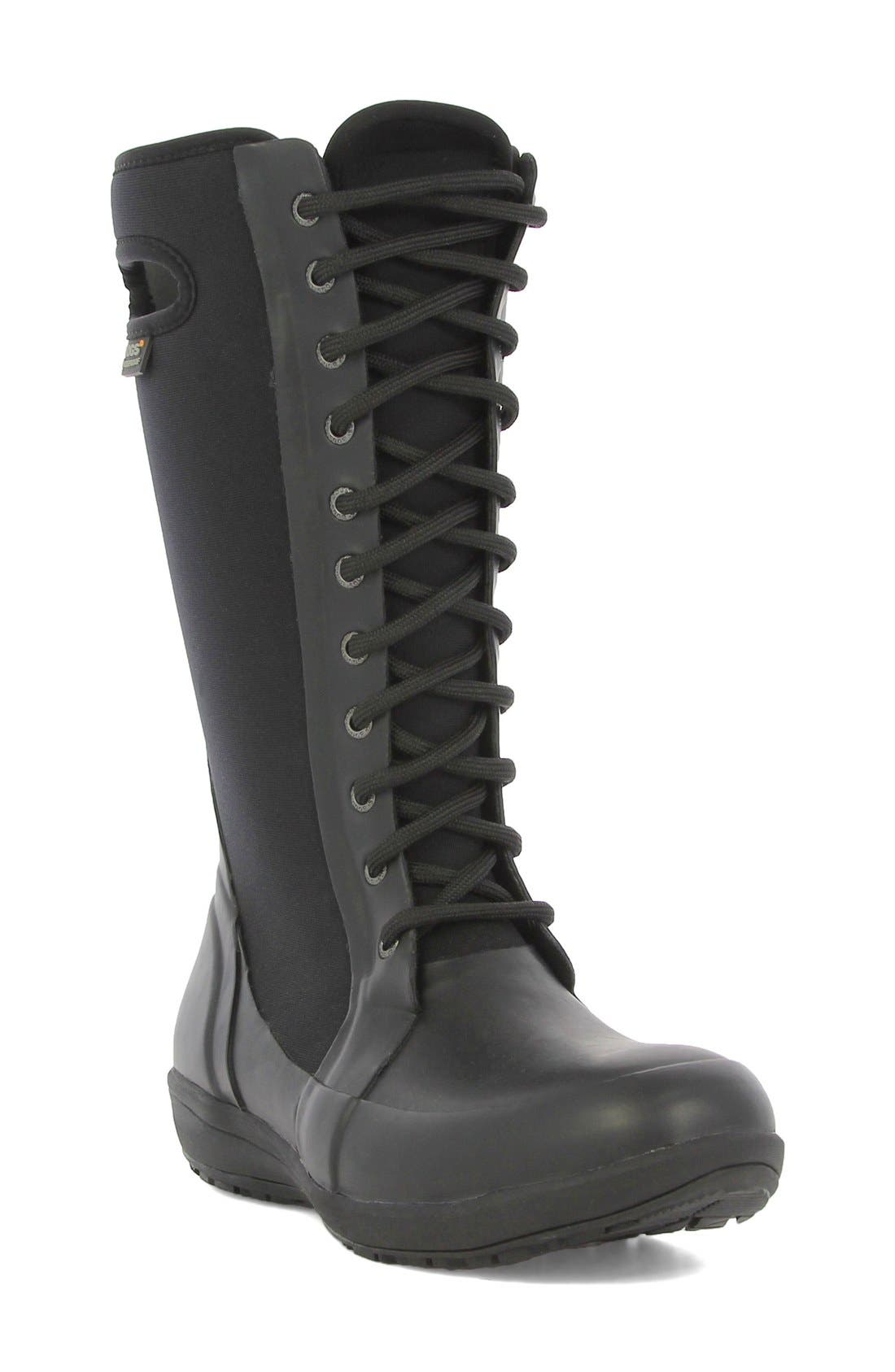 'Cami' Knee High Waterproof Boot,                             Main thumbnail 1, color,                             001