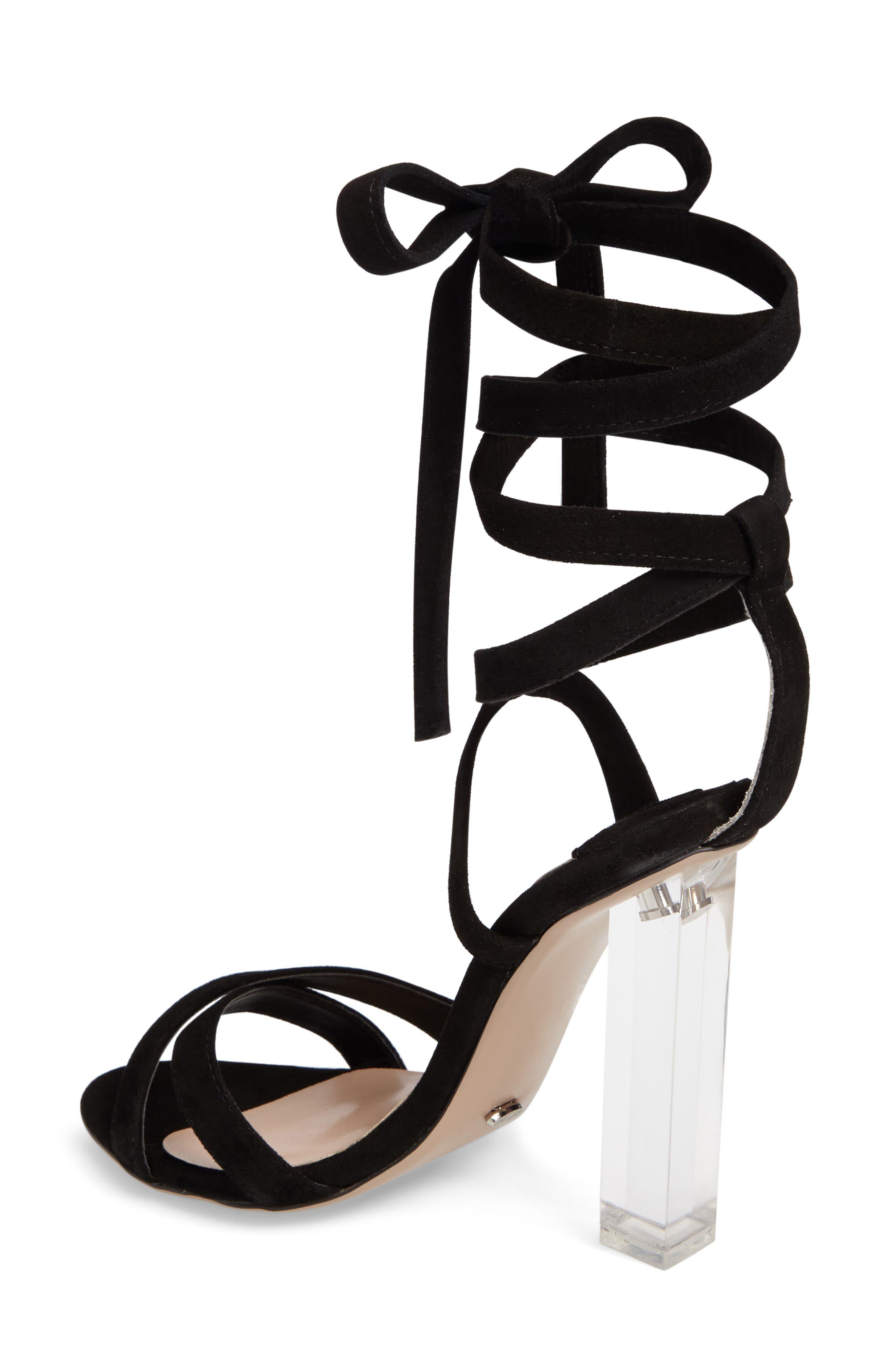 Komma Translucent Heel Sandal,                             Alternate thumbnail 2, color,                             001