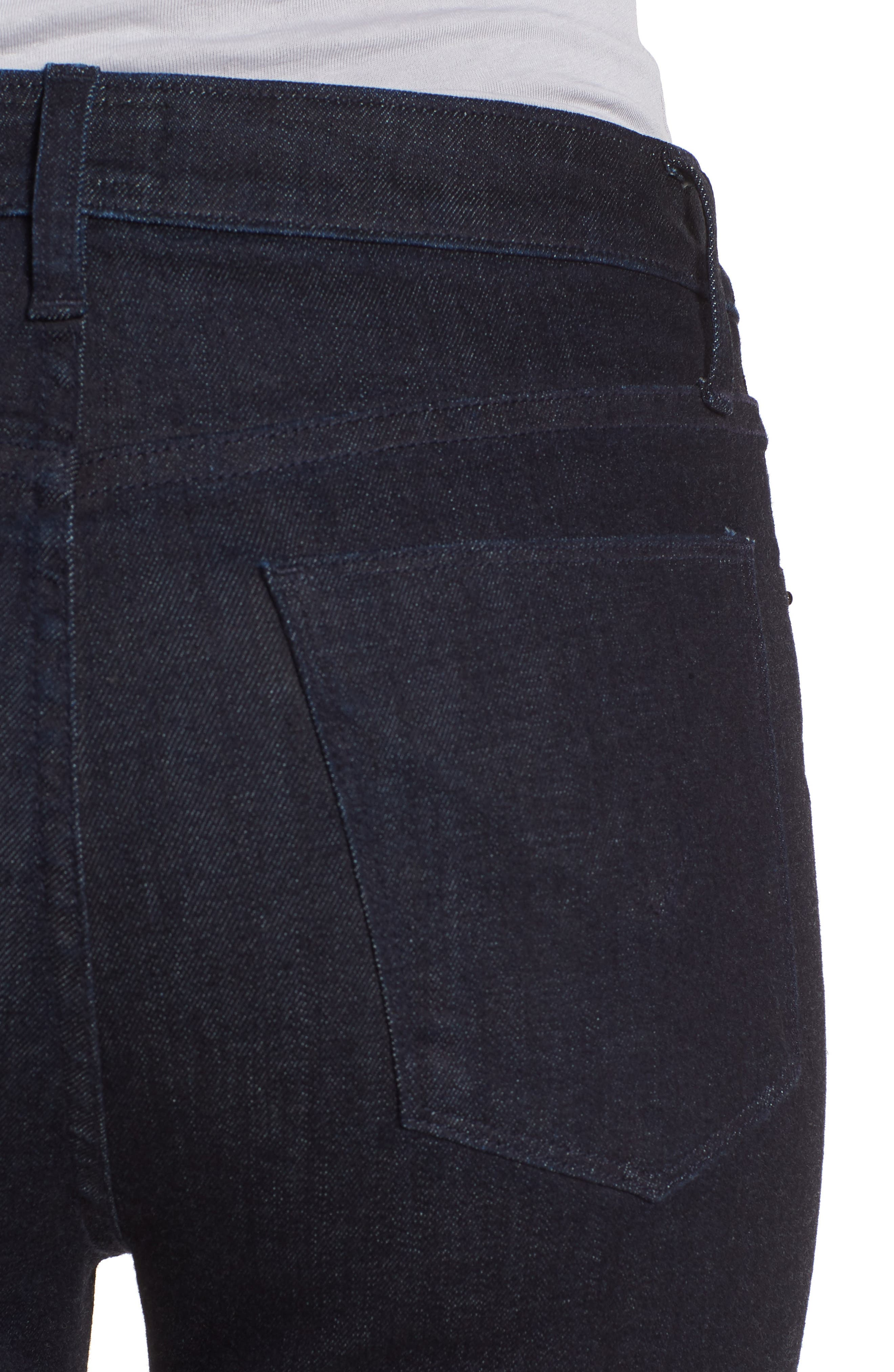 Holly High Waist Flare Jeans,                             Alternate thumbnail 4, color,                             INFUSE
