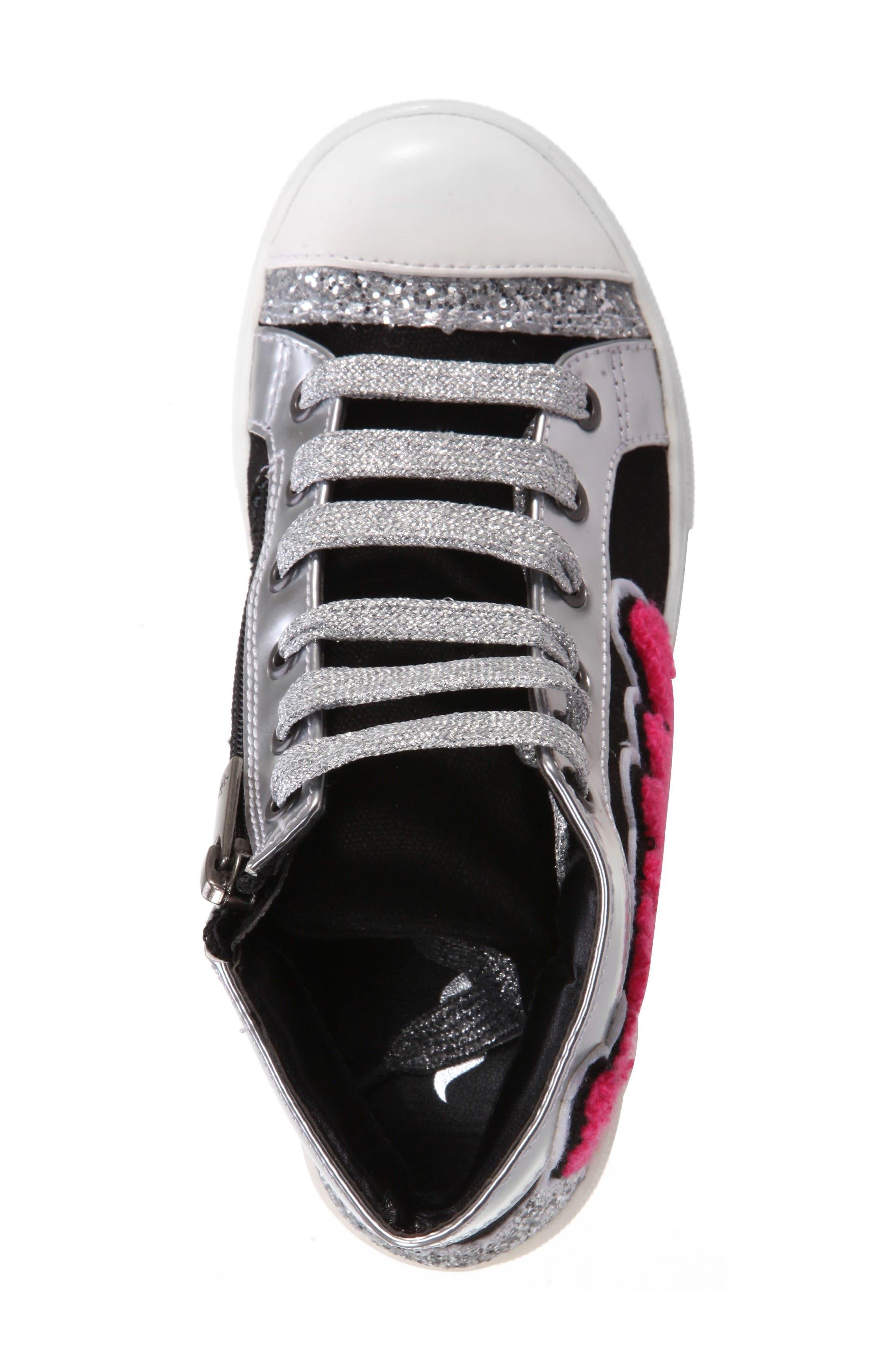 Gita High Top Sneaker,                             Alternate thumbnail 5, color,                             009