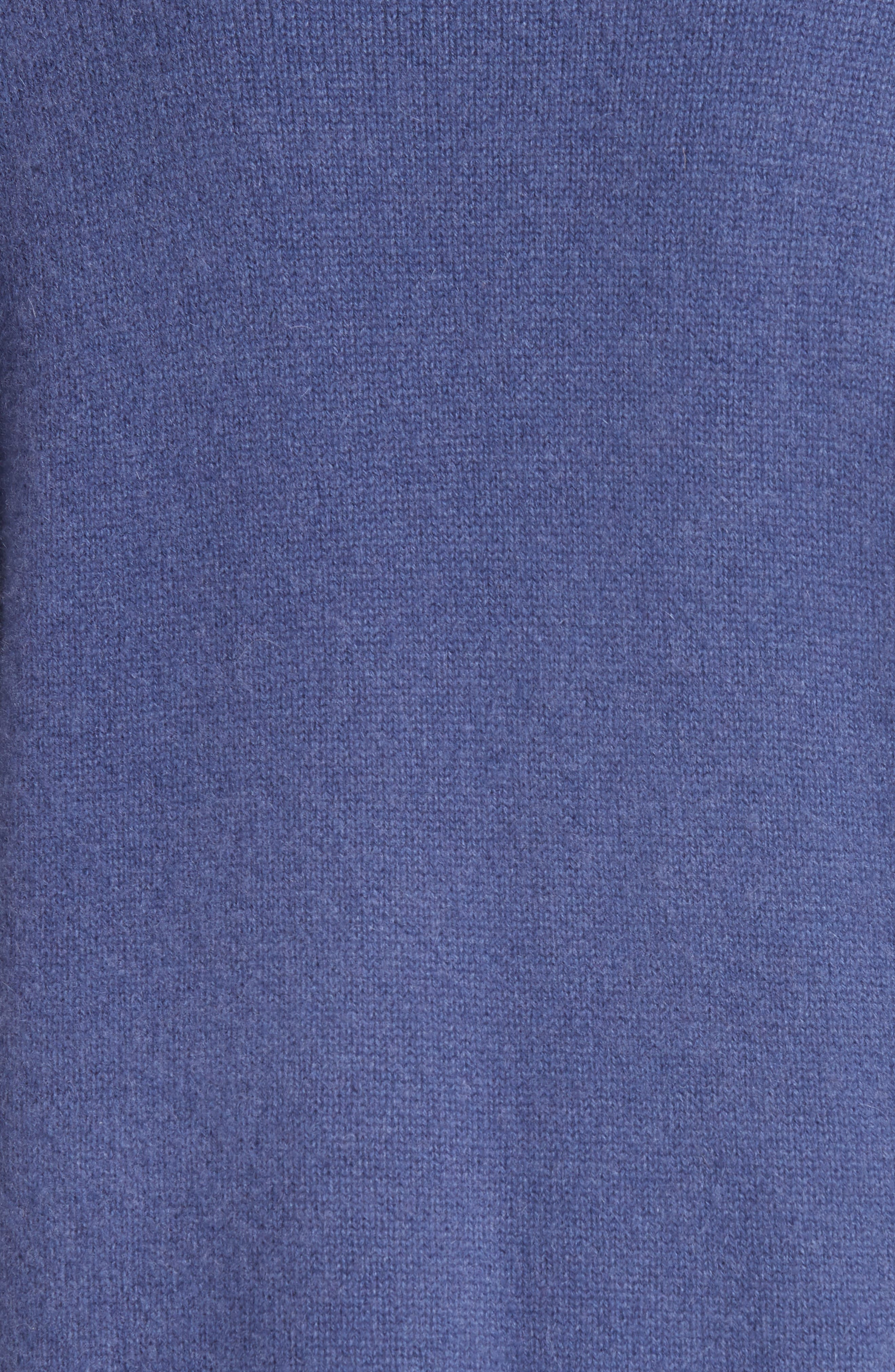 Boiled Cashmere Open Cardigan,                             Alternate thumbnail 5, color,                             BLUE MARLIN