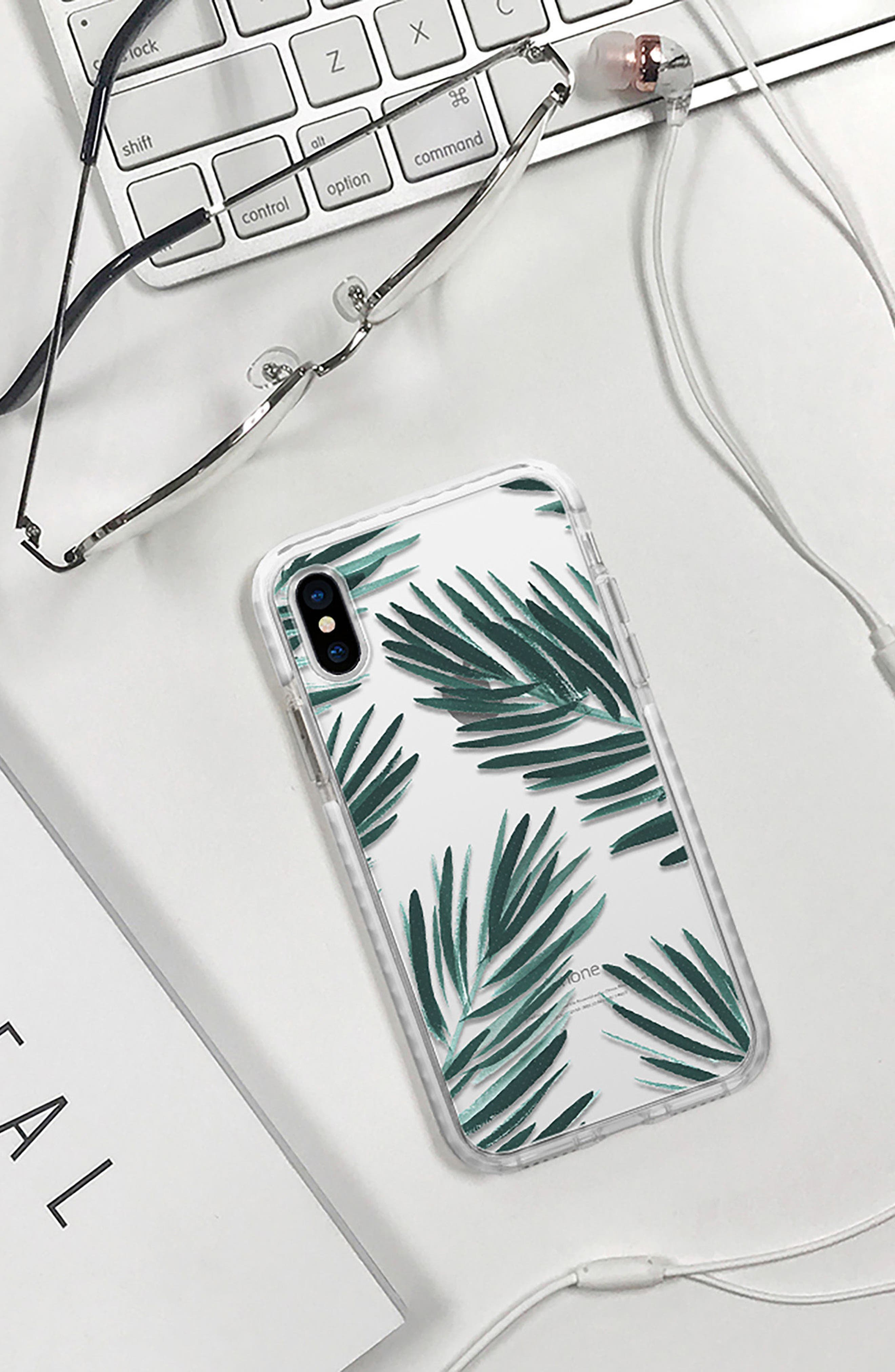 Palm Fronds iPhone X & Xs Case,                             Alternate thumbnail 6, color,                             GREEN