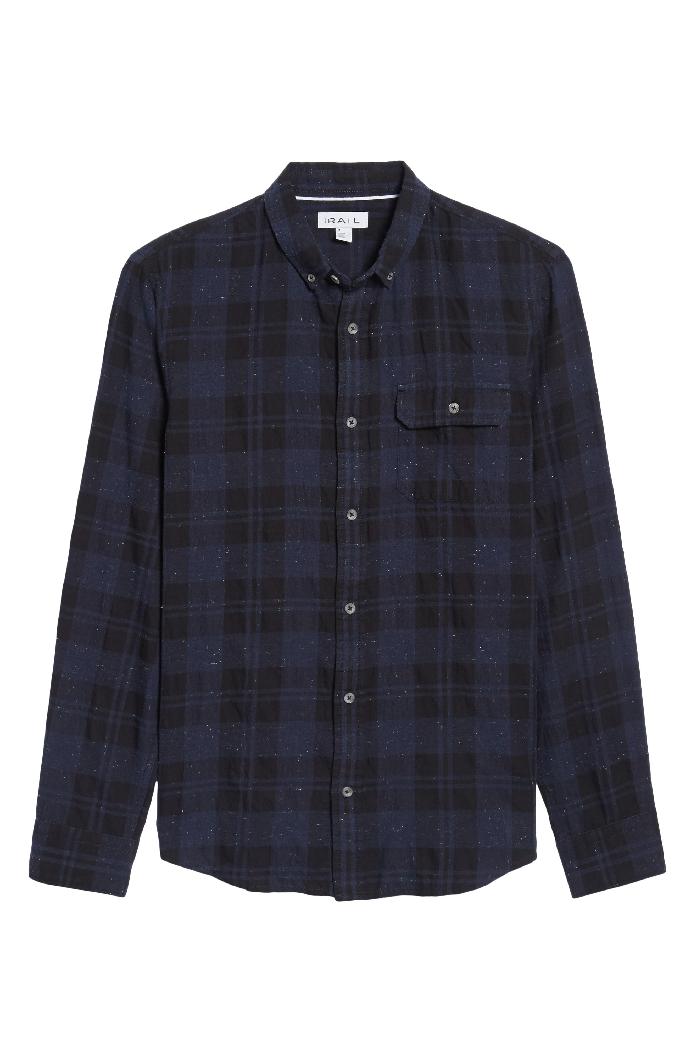 Long Sleeve Plaid Nep Shirt,                             Alternate thumbnail 6, color,                             410