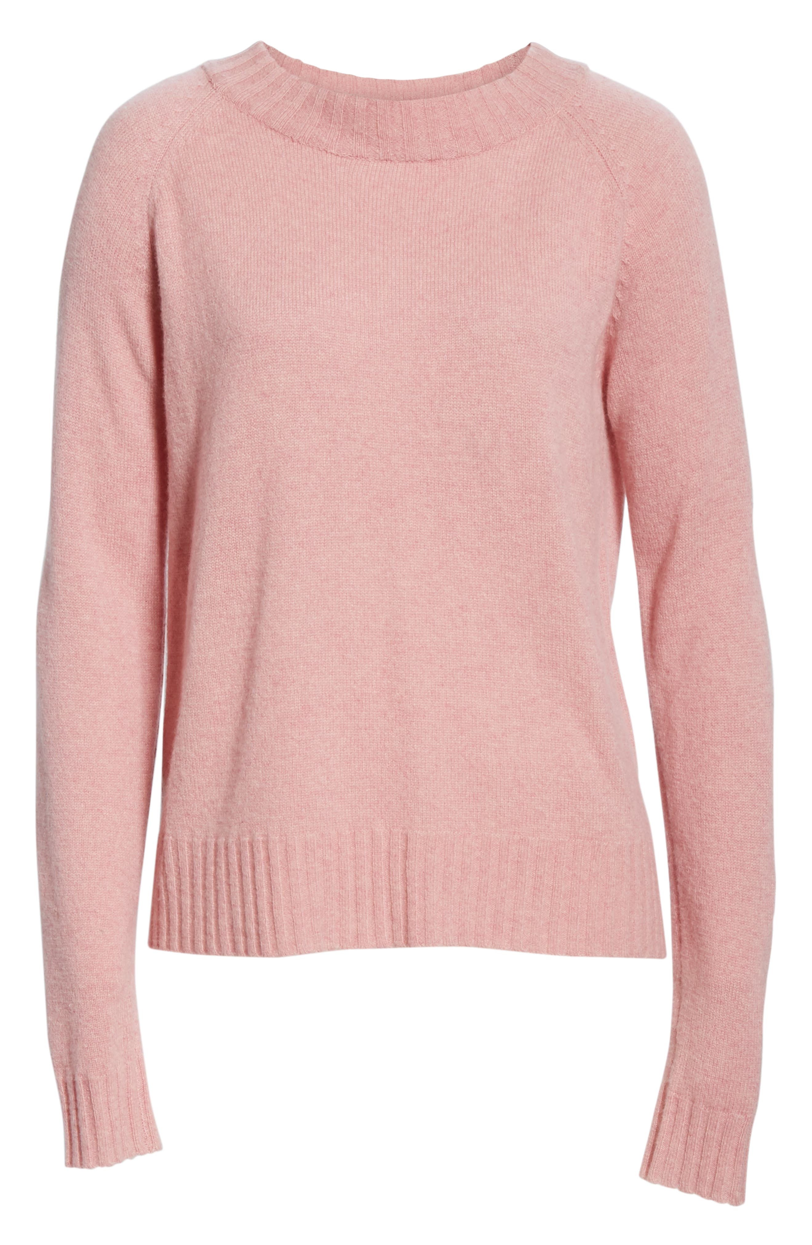 Cashmere Sweater,                             Alternate thumbnail 6, color,                             PINK