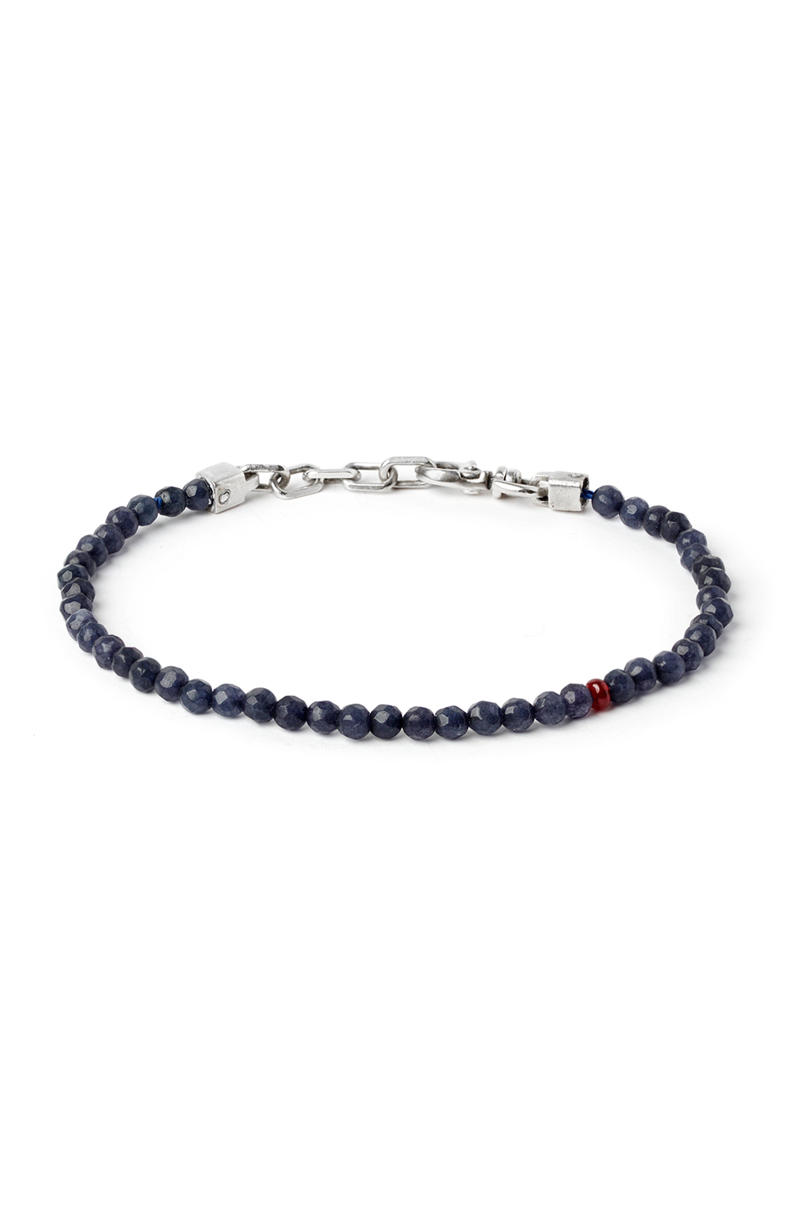 Sapphire & Ruby Bead Bracelet,                             Main thumbnail 1, color,                             NAVY/ RED