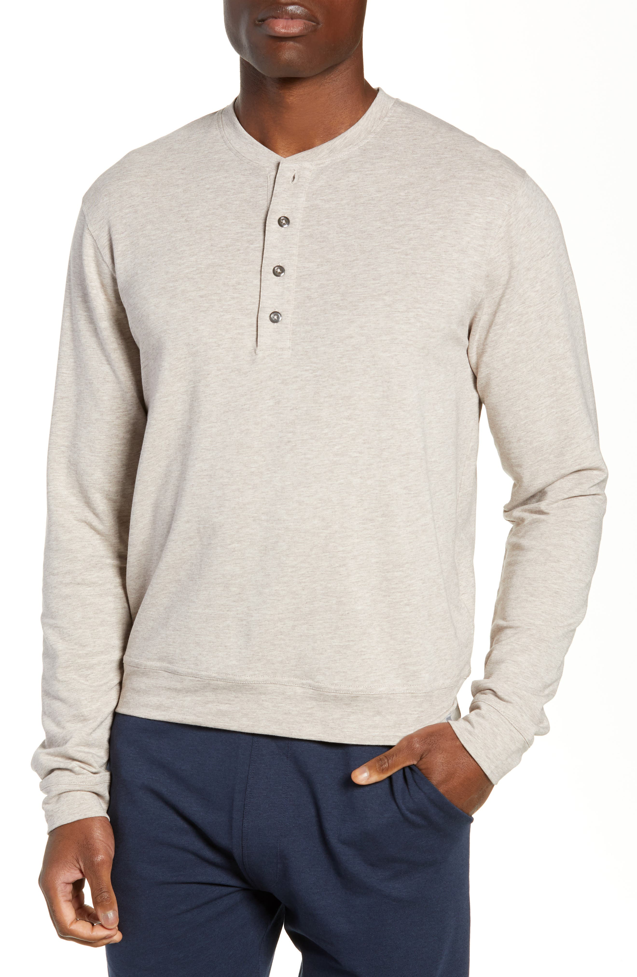 Legacy Heathered Henley,                             Main thumbnail 1, color,                             CRATER HEATHER