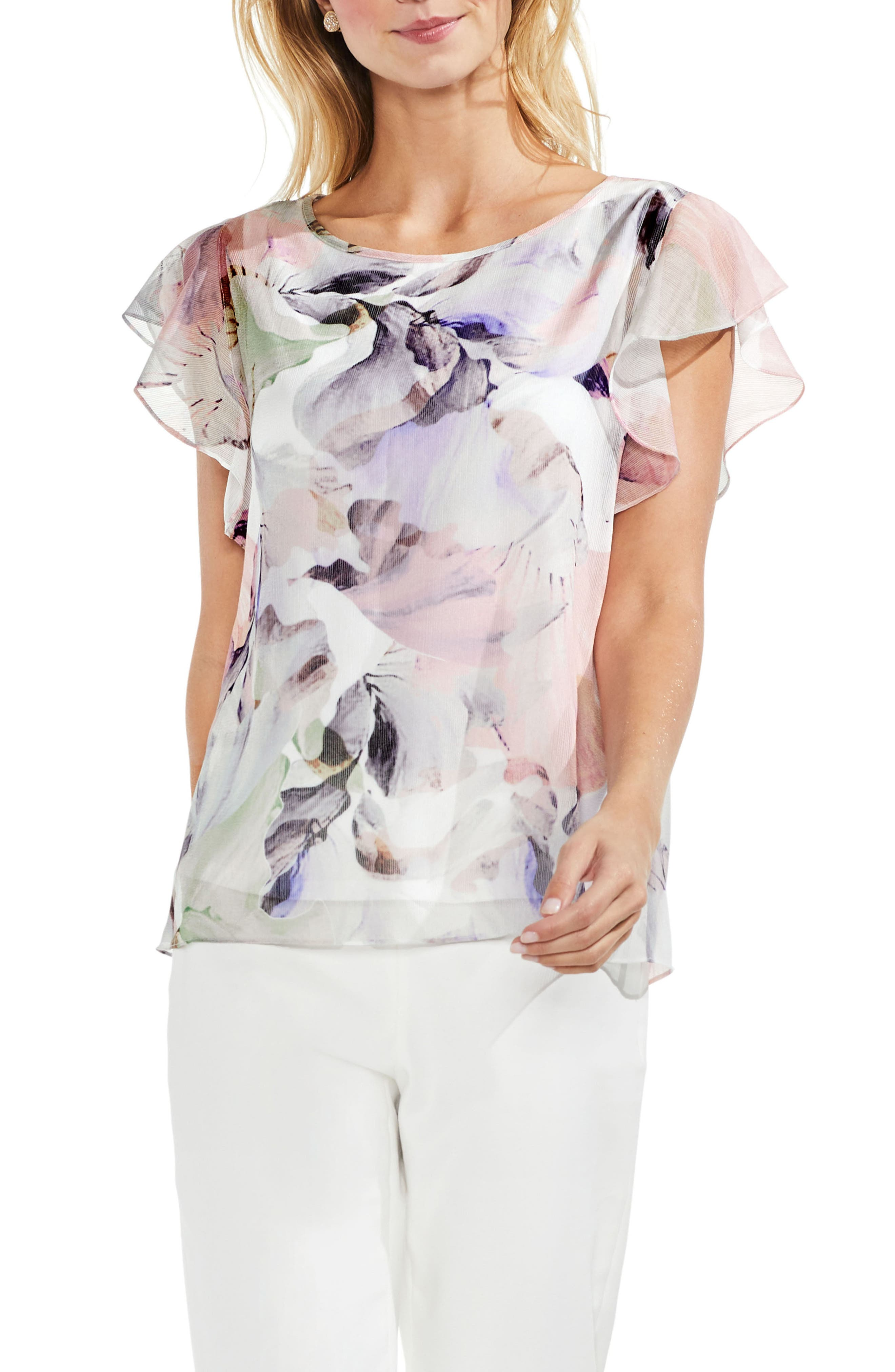 Diffused Bloom Blouse,                         Main,                         color, 103