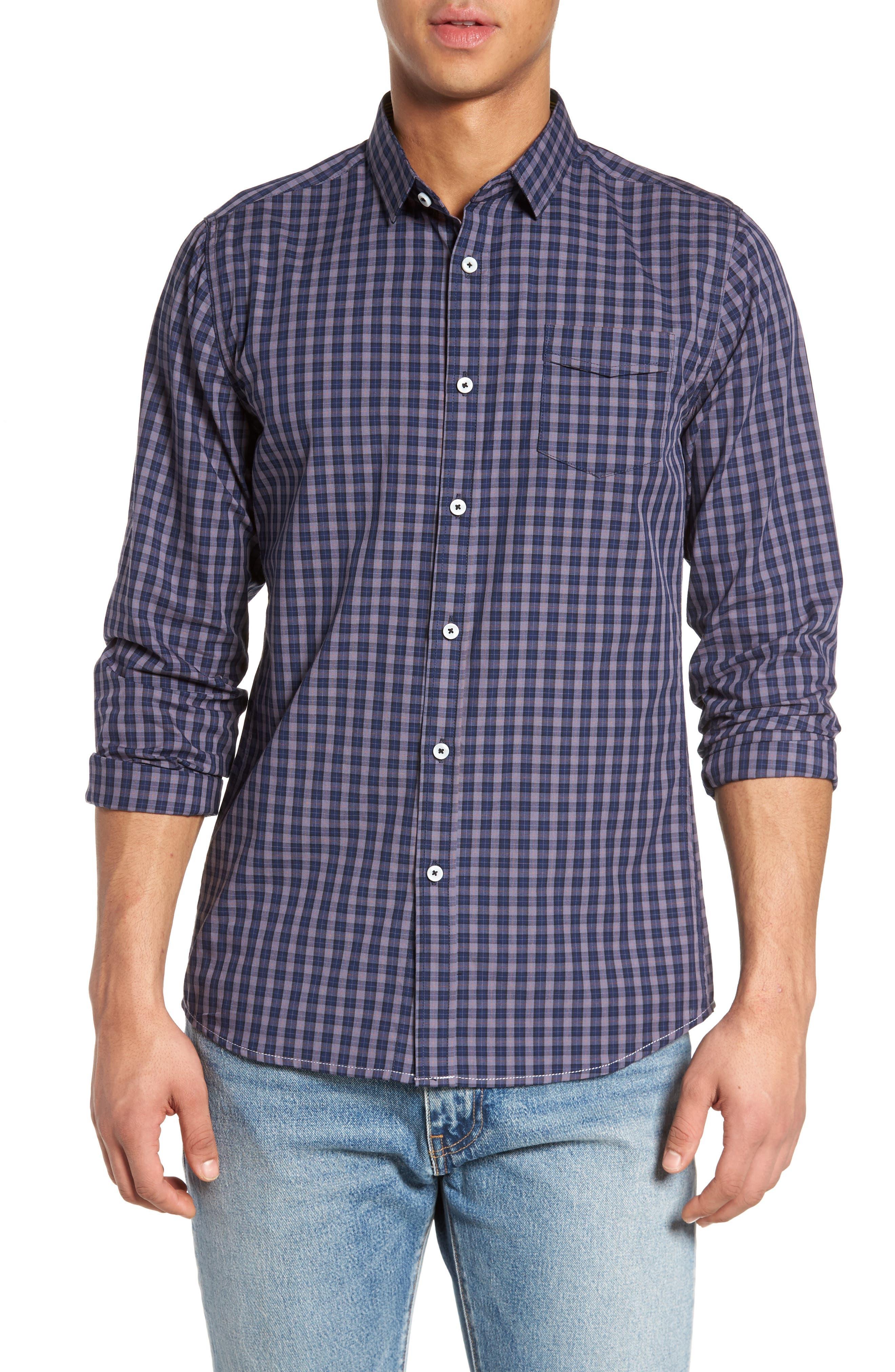 Tinto Plaid Sport Shirt,                             Main thumbnail 1, color,