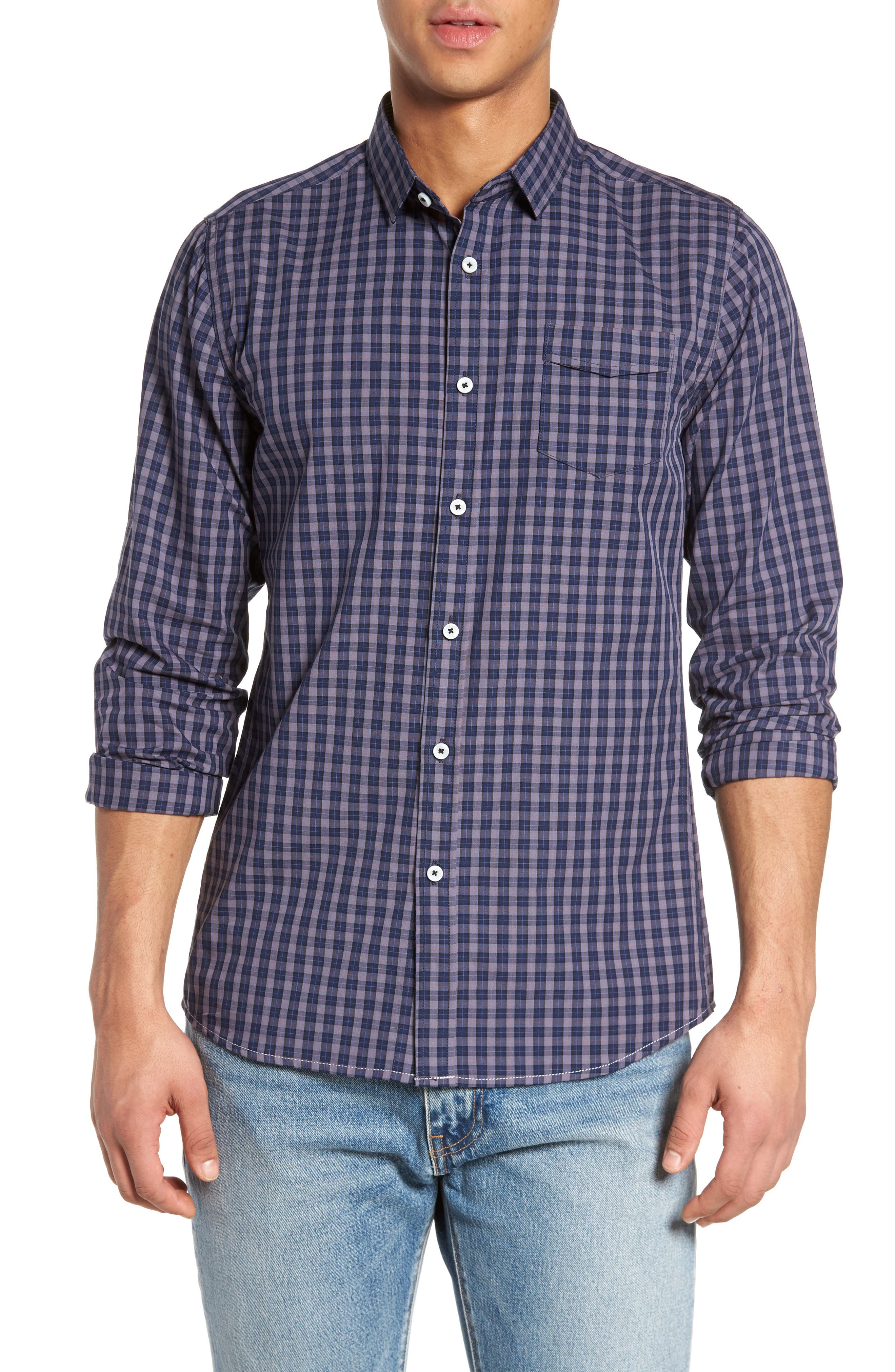 Tinto Plaid Sport Shirt,                         Main,                         color, 400