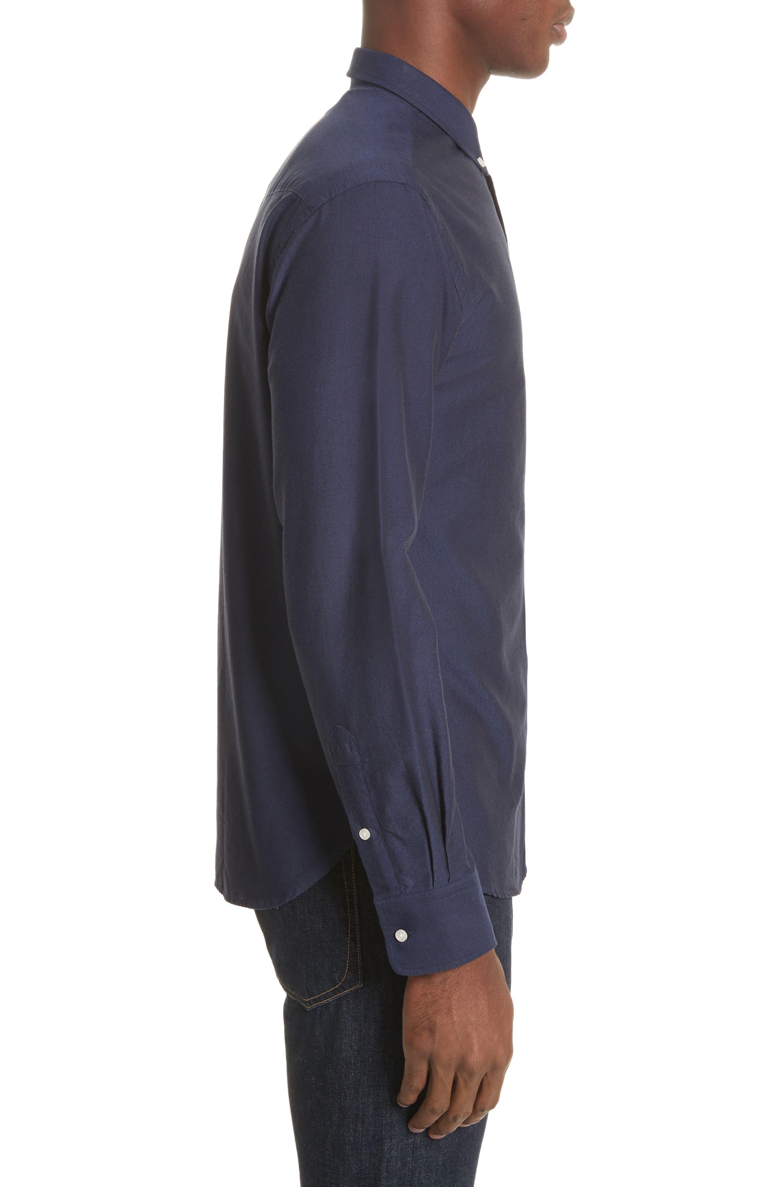 Oxford Shirt,                             Alternate thumbnail 4, color,                             410