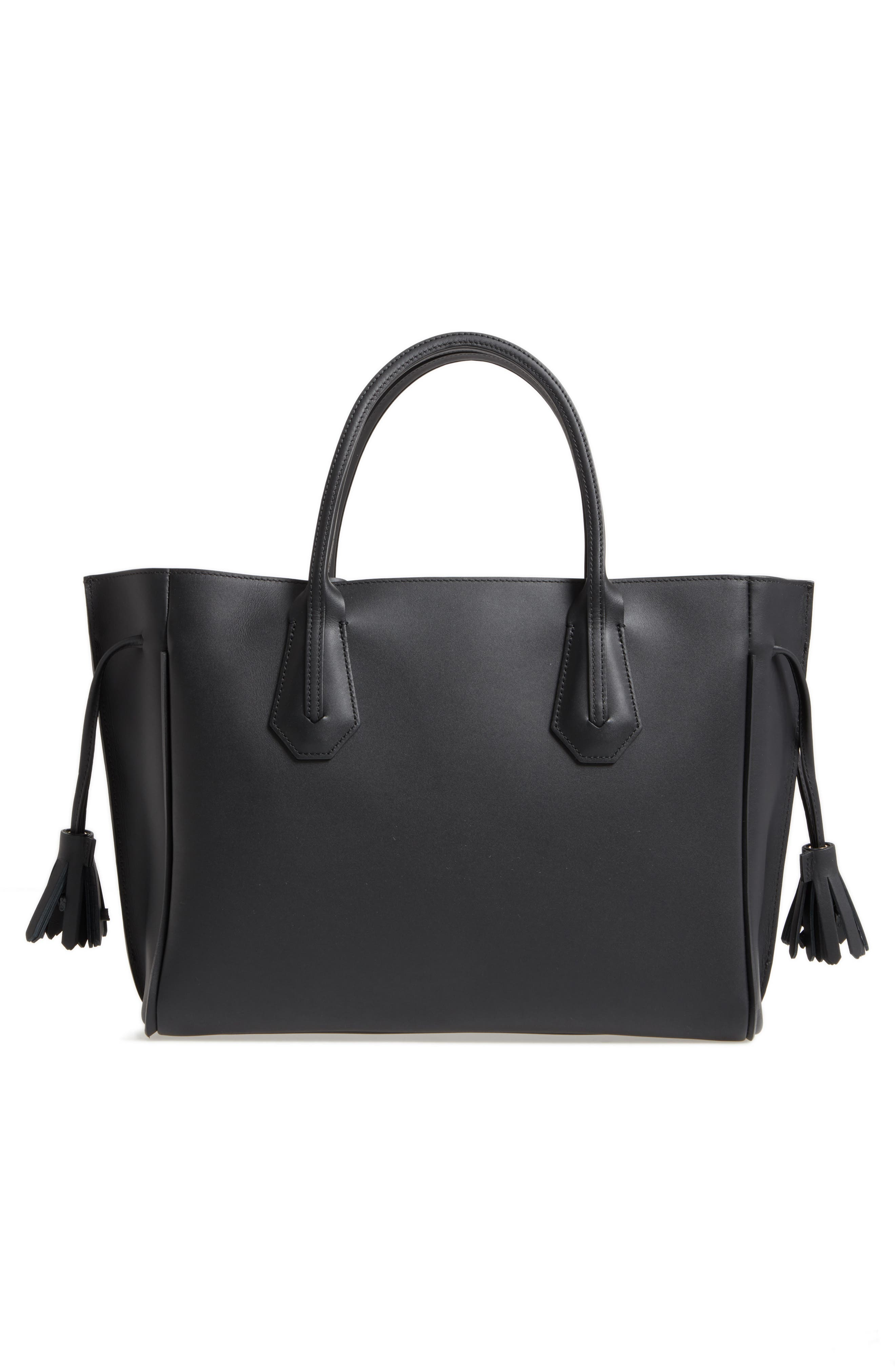 Penelope Arty Medium Leather & Suede Tote,                             Alternate thumbnail 3, color,                             600